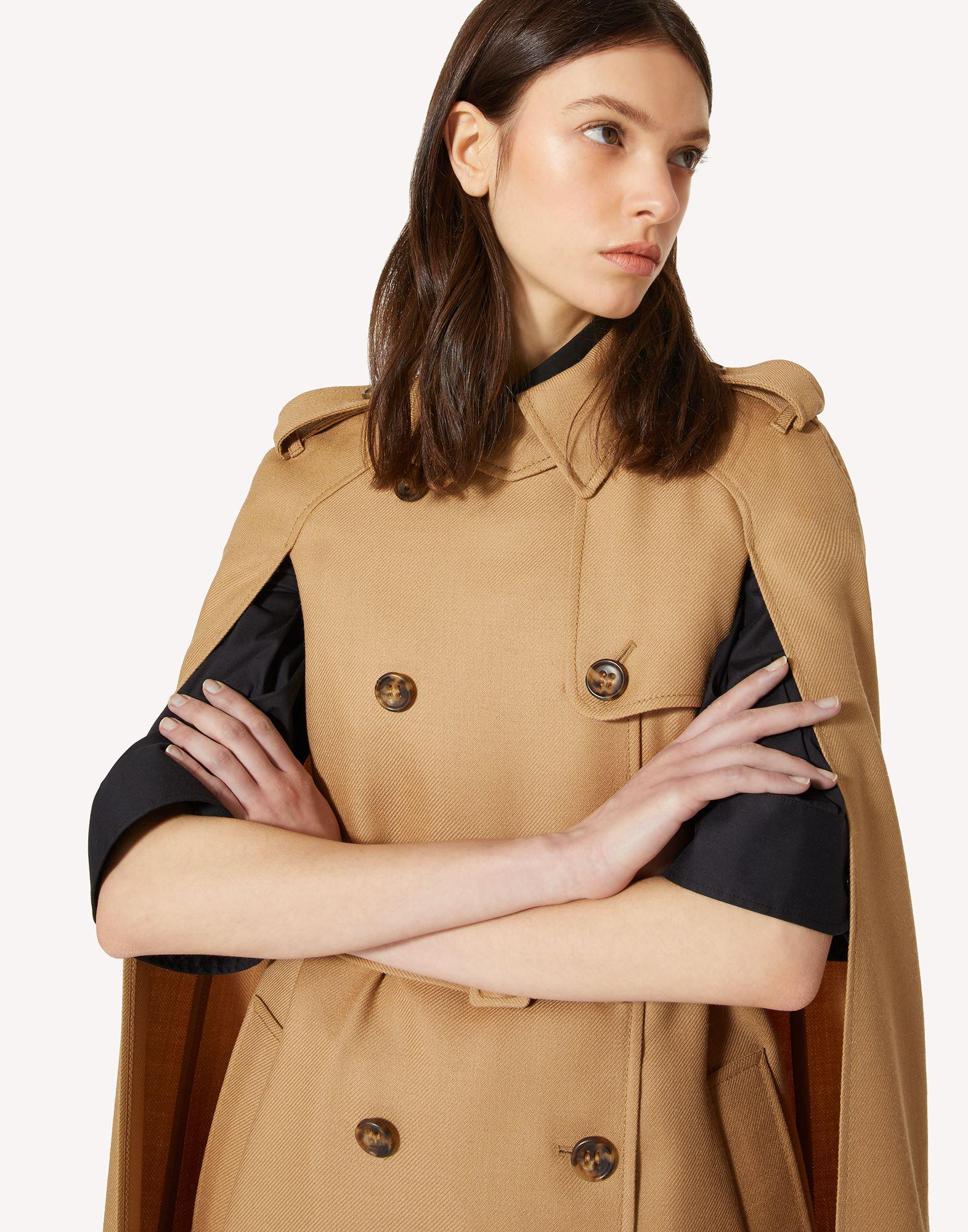 COMPACT WOOL TRENCH-LIKE CAPE 3