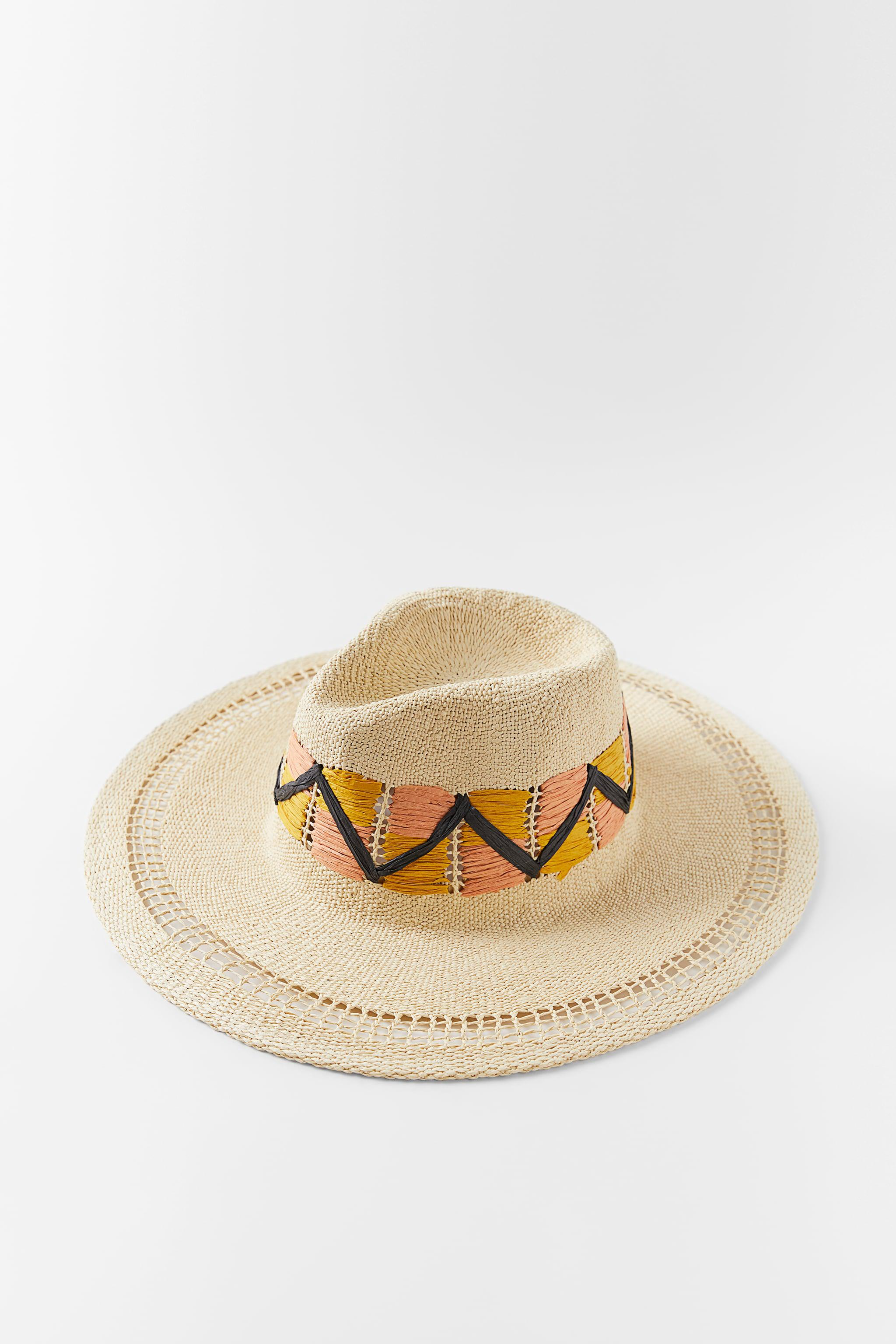 EMBROIDERED WOVEN HAT