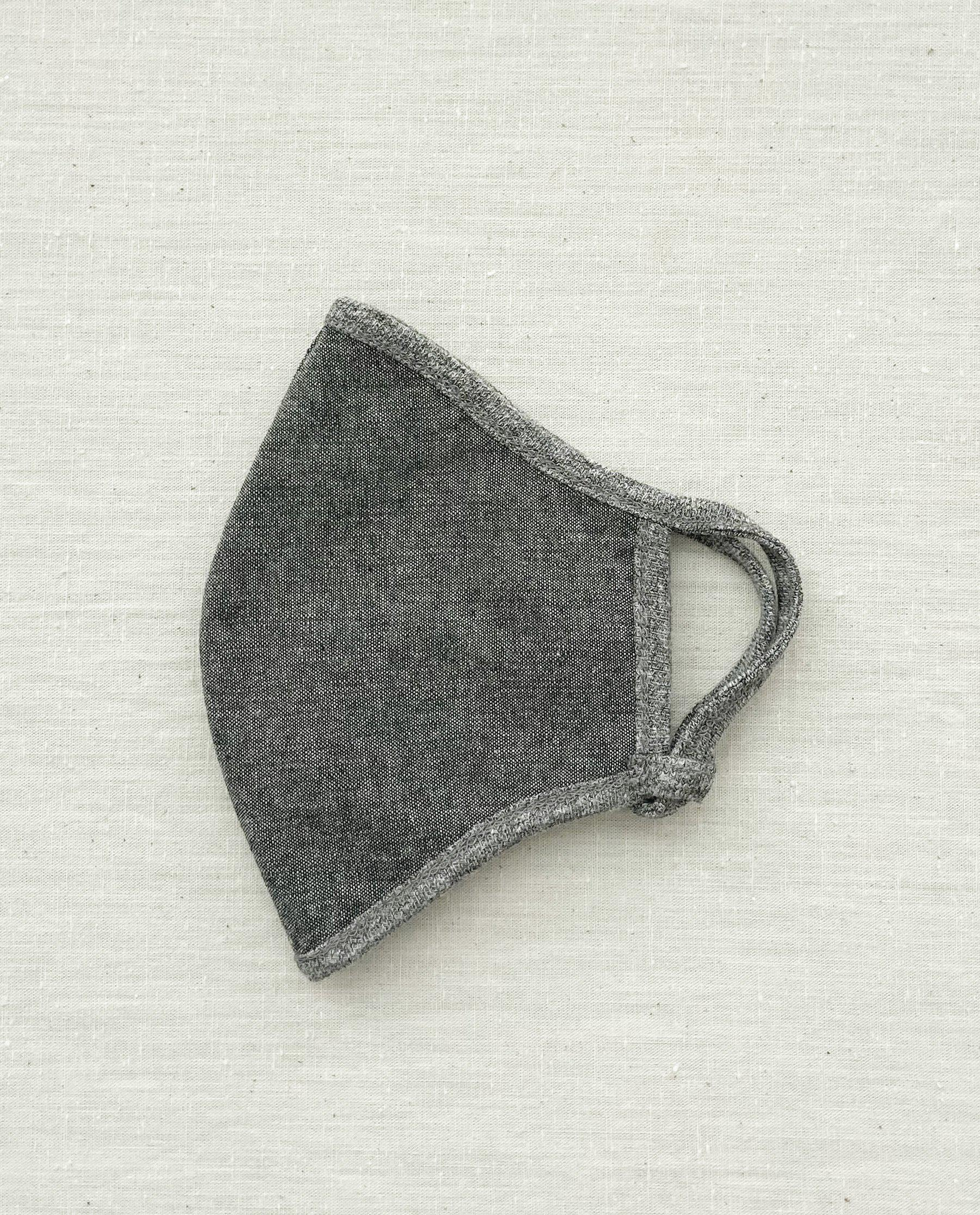 The Face Mask. -- Black Chambray