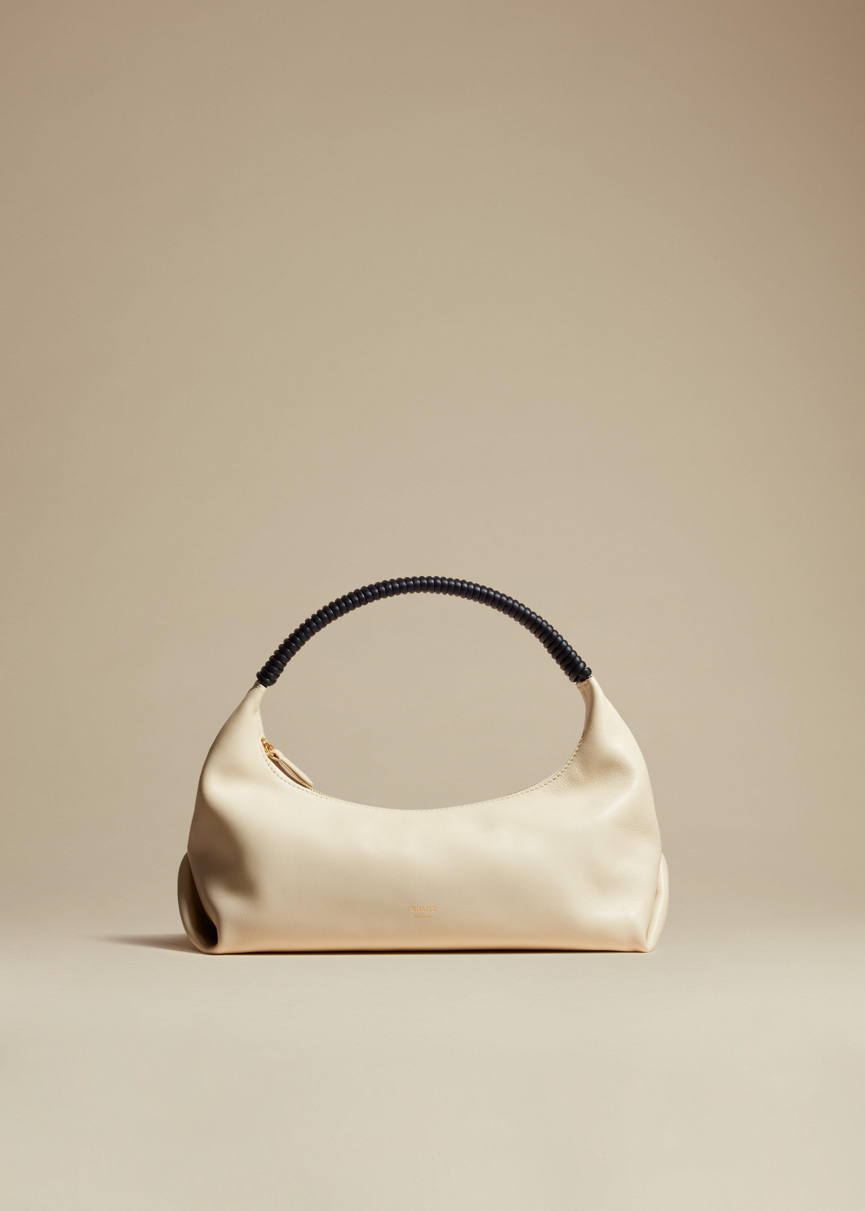 The Remi Hobo in Cream Leather