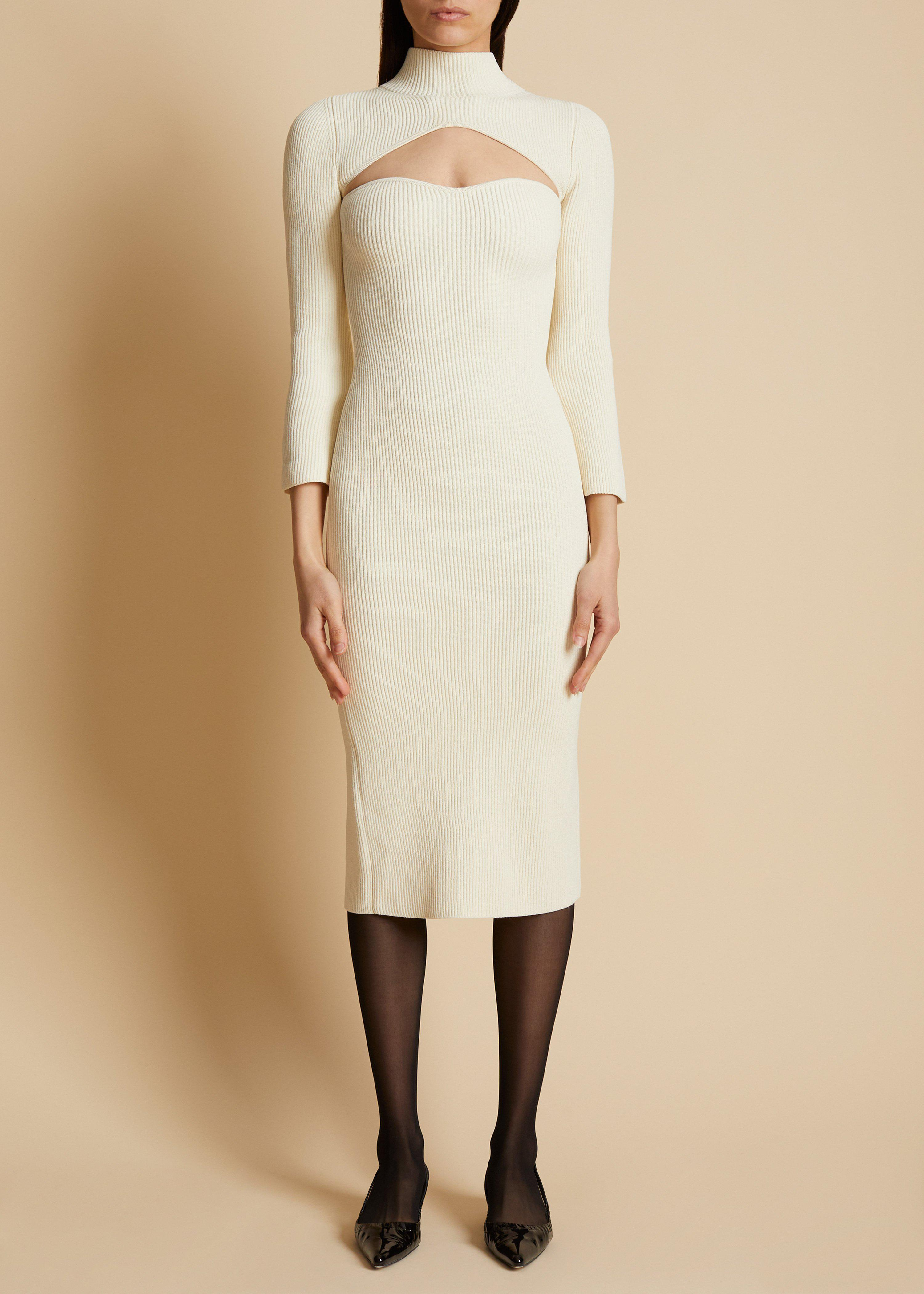 The Mischa Dress in Ivory 1