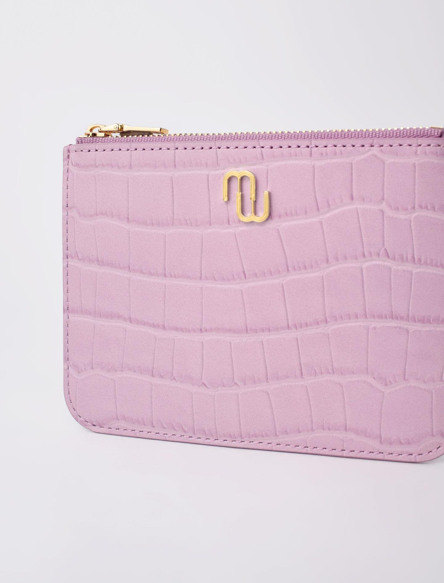 ZIP-UP EMBOSSED LEATHER POUCH 3