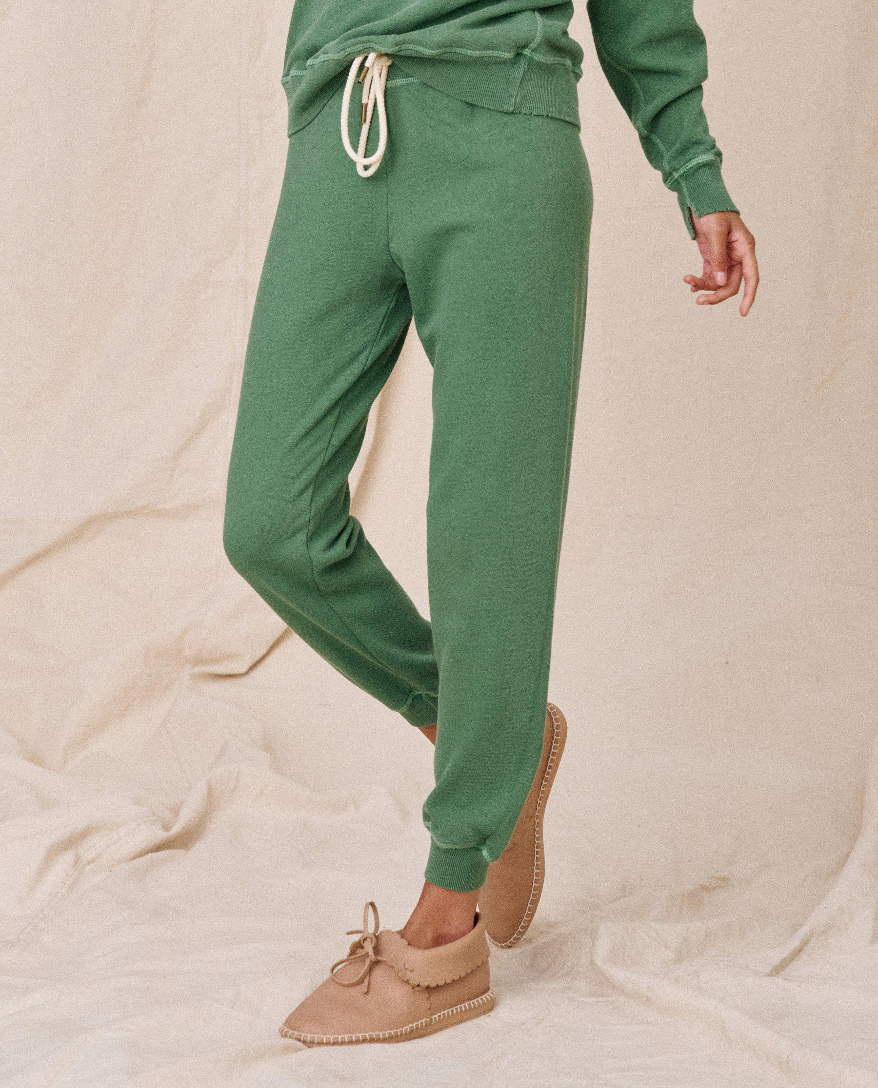 The Cropped Sweatpant. Solid -- Juniper