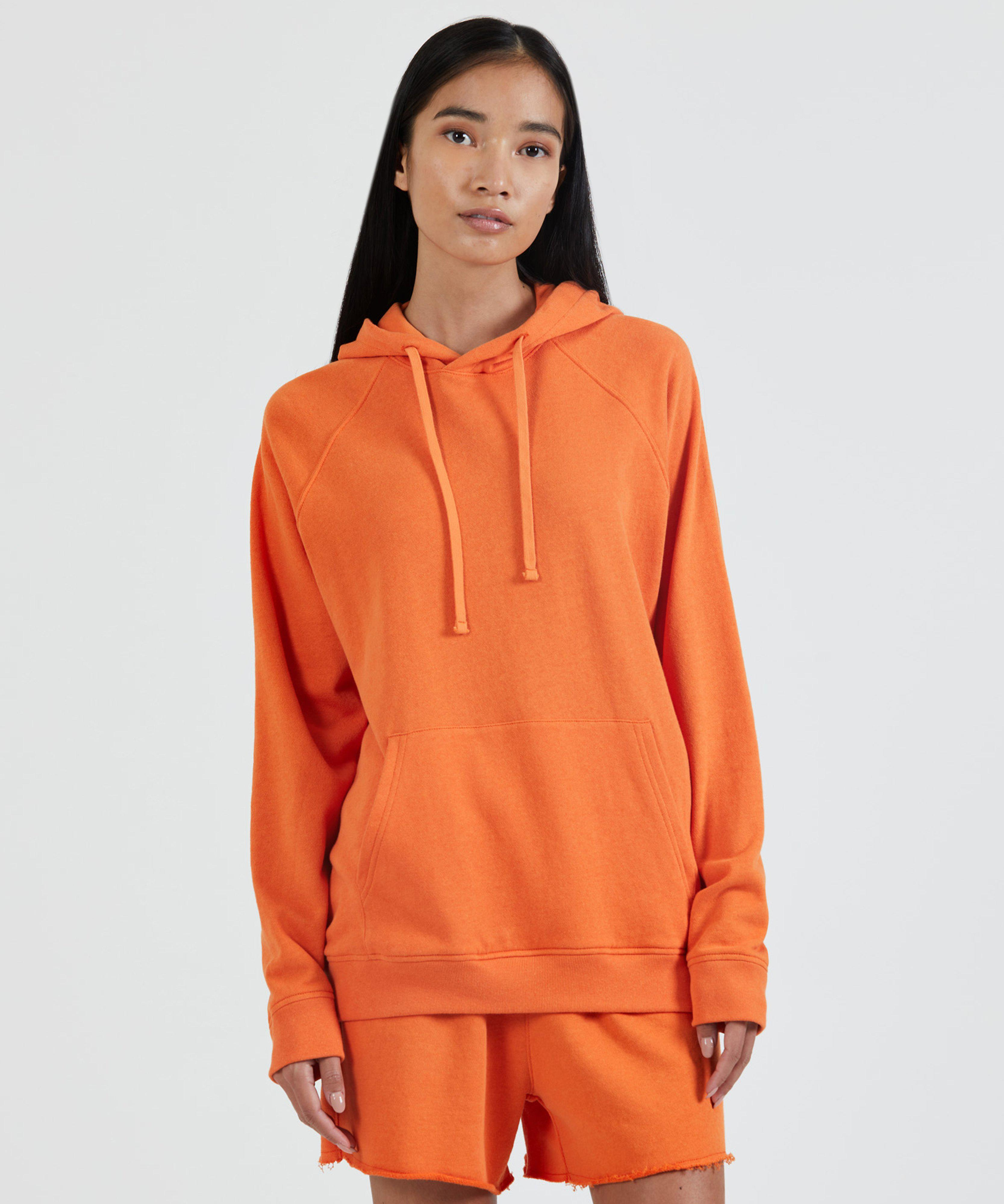 French Terry Pull-Over Hoodie - Clementine