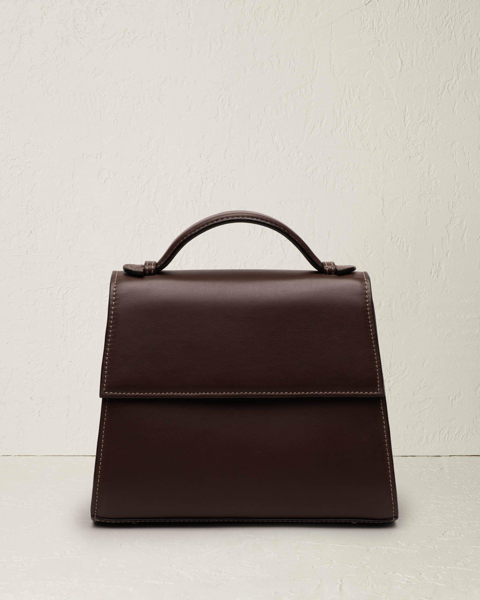 The Medium Top Handle in Nappa Leather