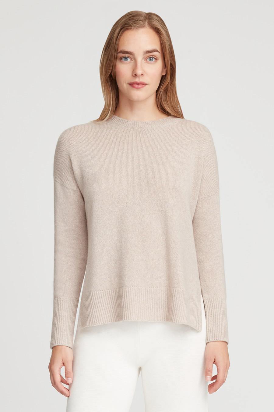 Women's Recycled Crewneck Sweater in Beige | Size: 1