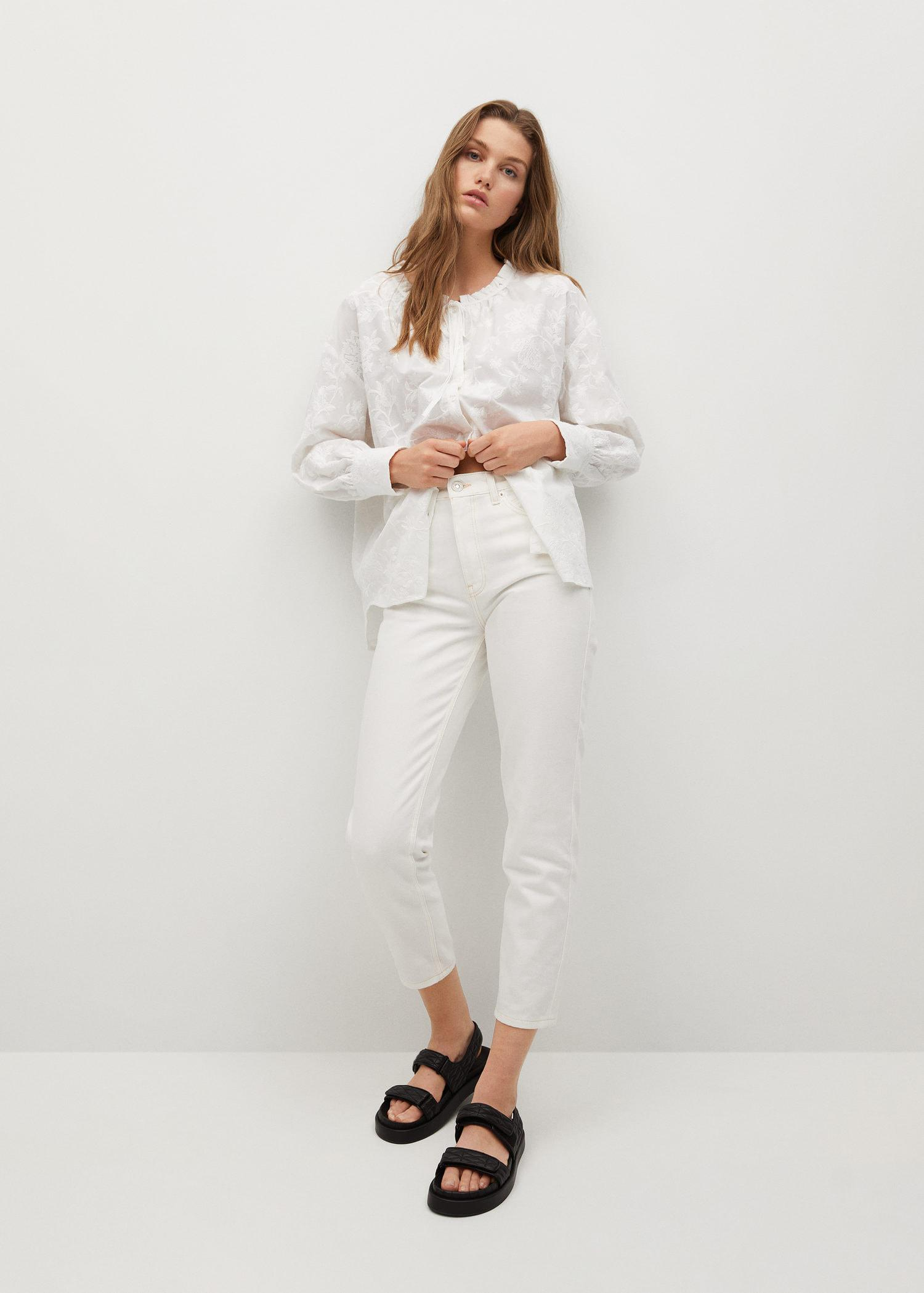 Embroidered cotton blouse 1