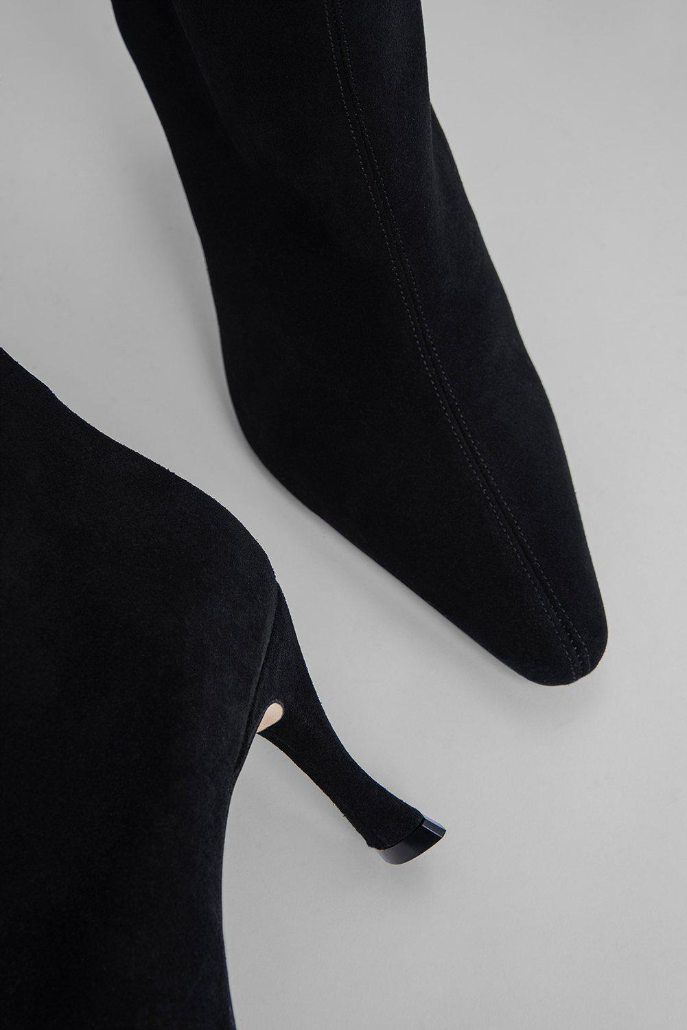Stevie 42 Black Suede Leather 5