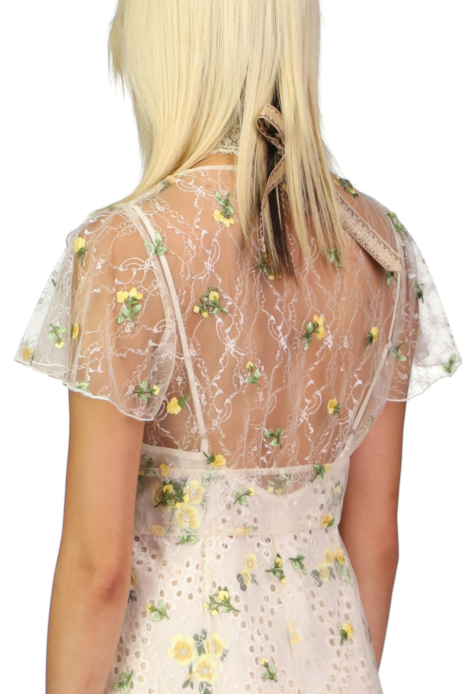 Scattered Blooms Lace Cover Up 4