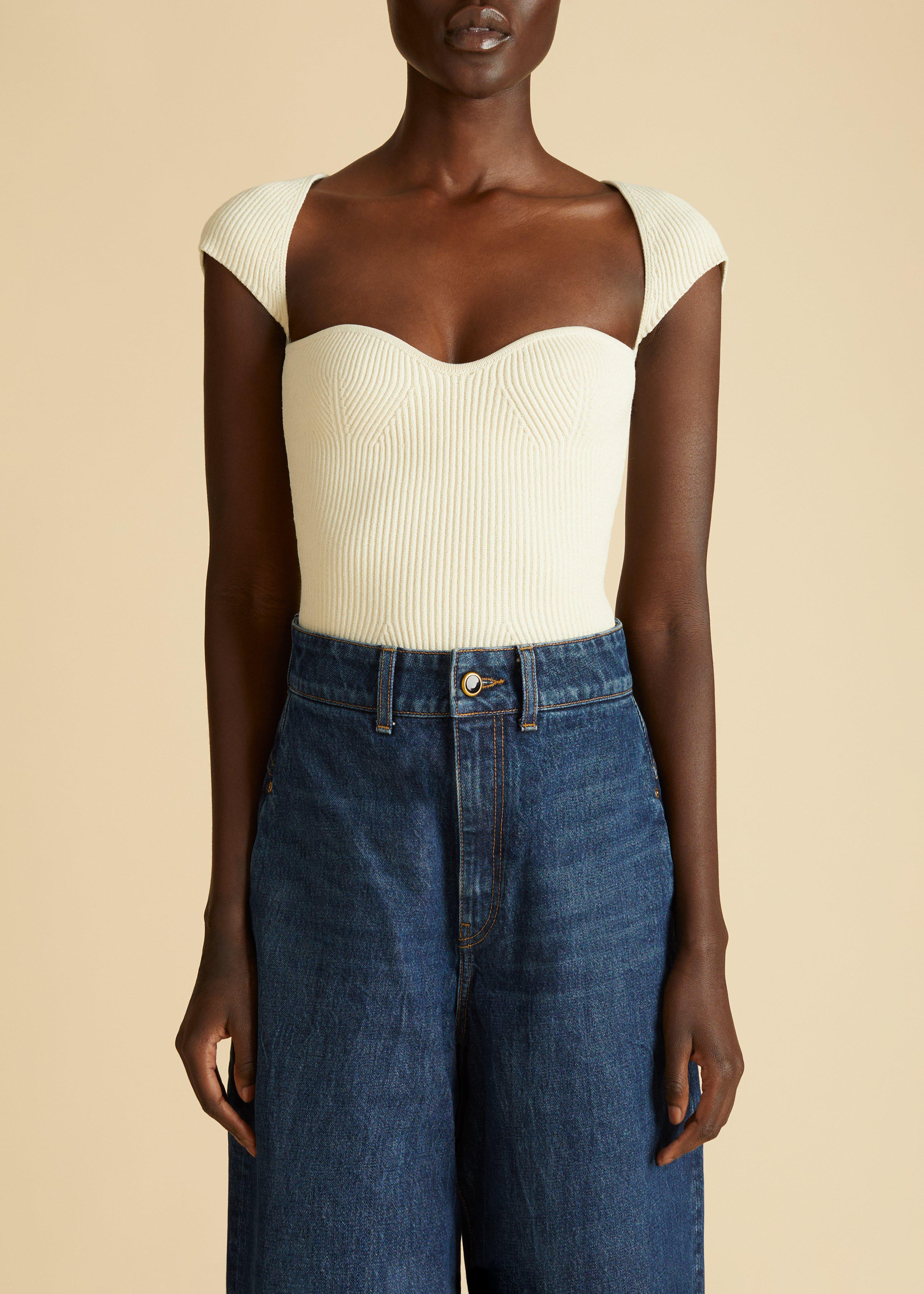 The Ista Top in Ivory