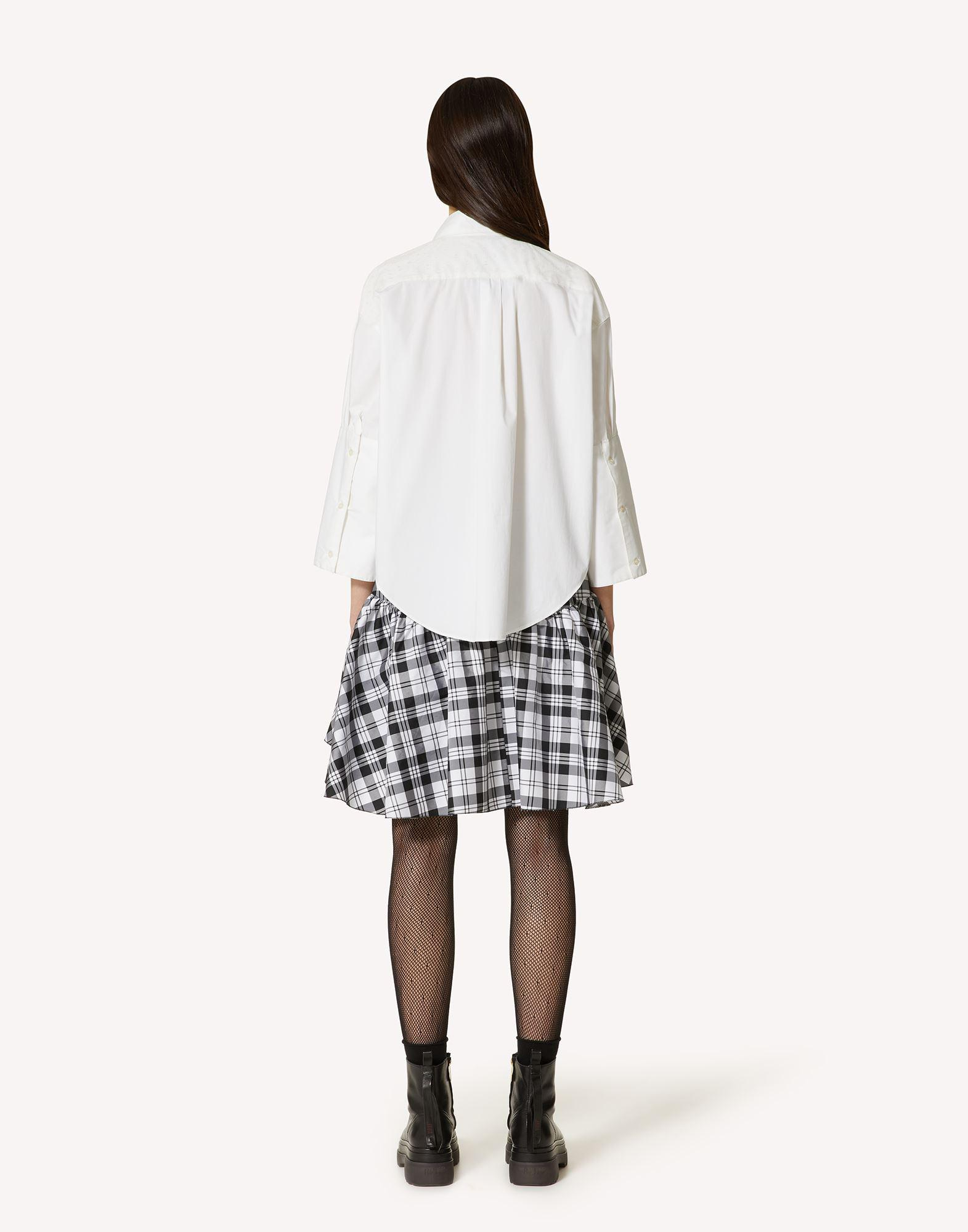 THE BLACK TAG. - COTTON POPLIN SHIRT WITH POINT D'ESPRIT TULLE 1