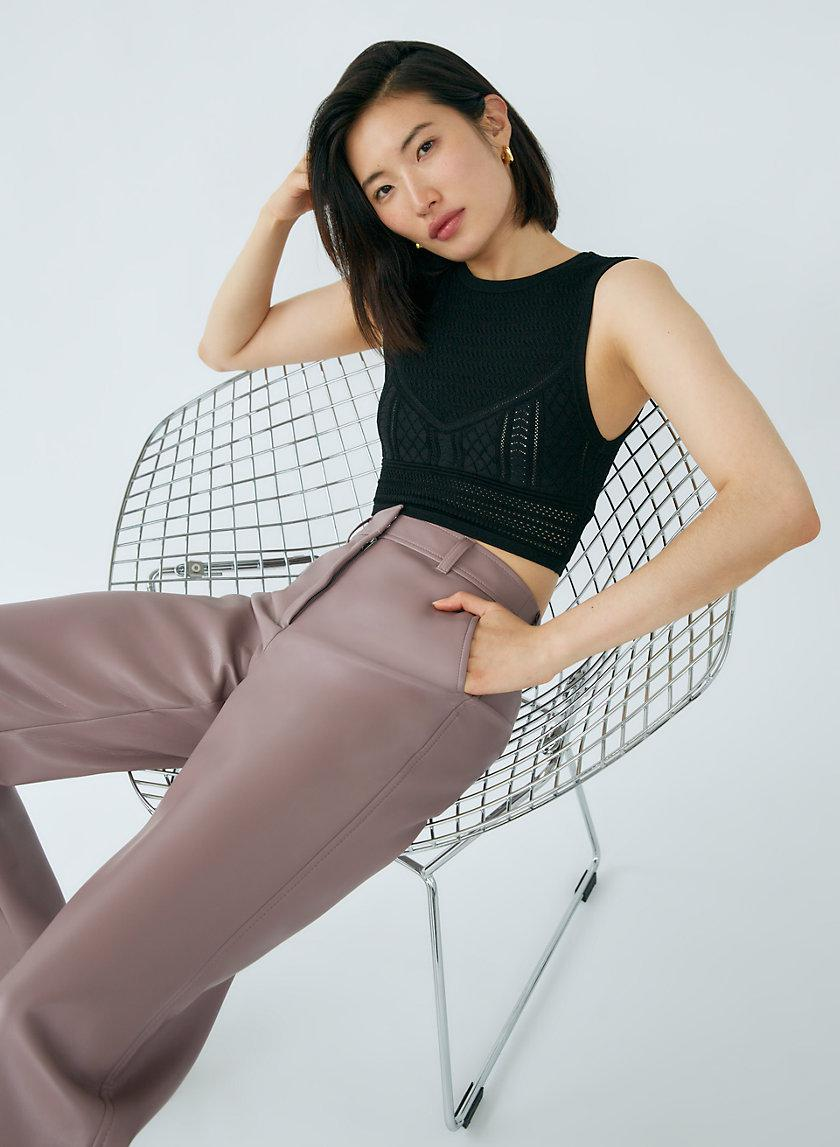 Pointelle Cropped Tank