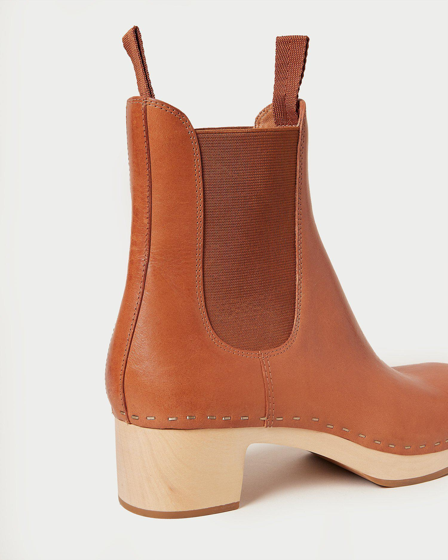 Anabelle Cognac Clog Boot 3