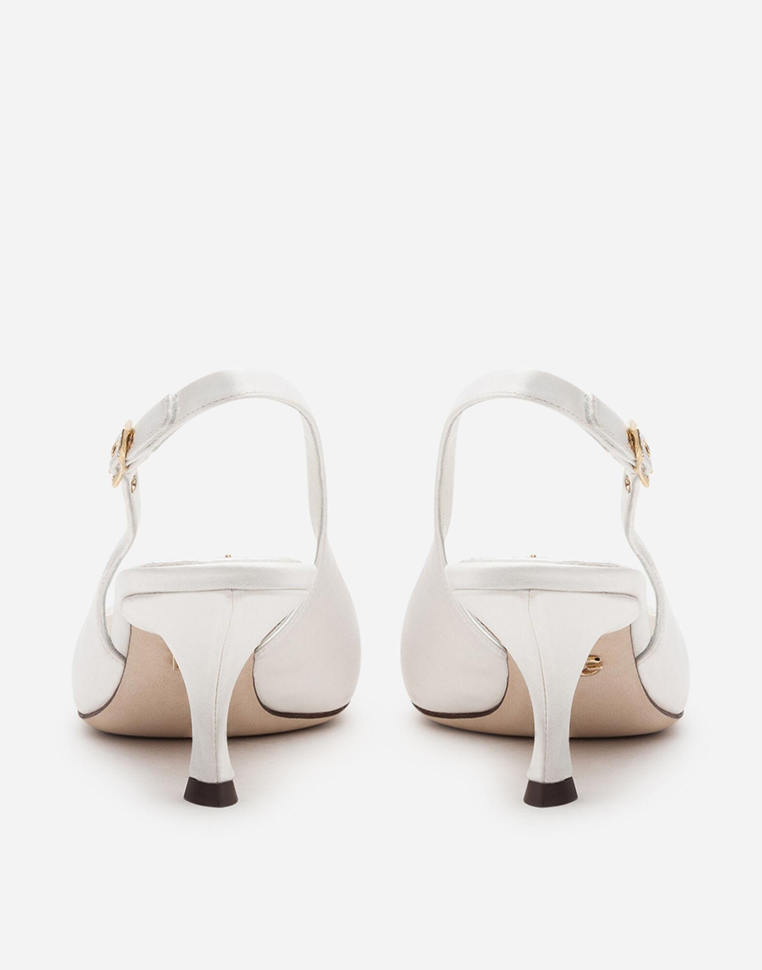 Satin sling back with bejeweled embroidery 2