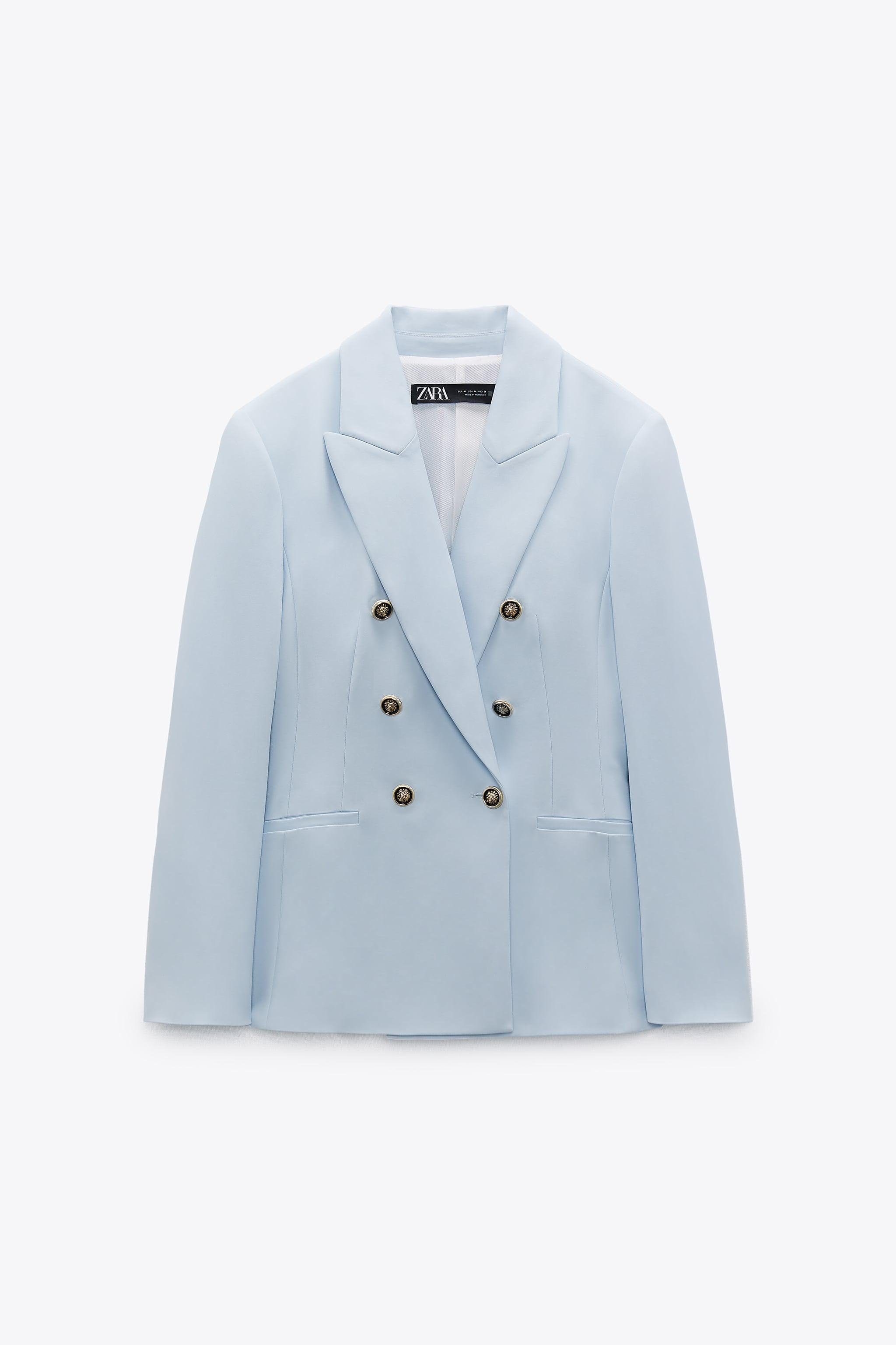 DOUBLE BREASTED BUTTONED BLAZER 4