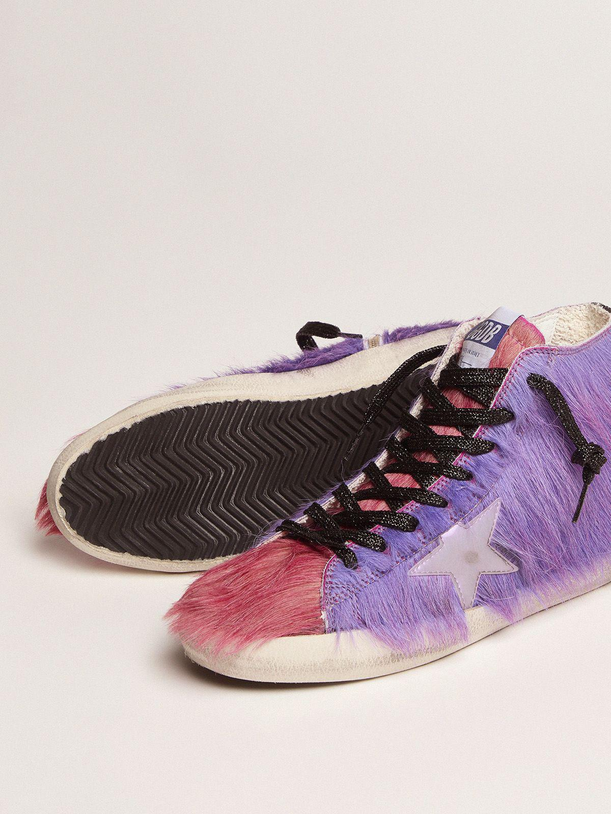 Women's Limited Edition lilac and pink pony skin Francy sneakers 2