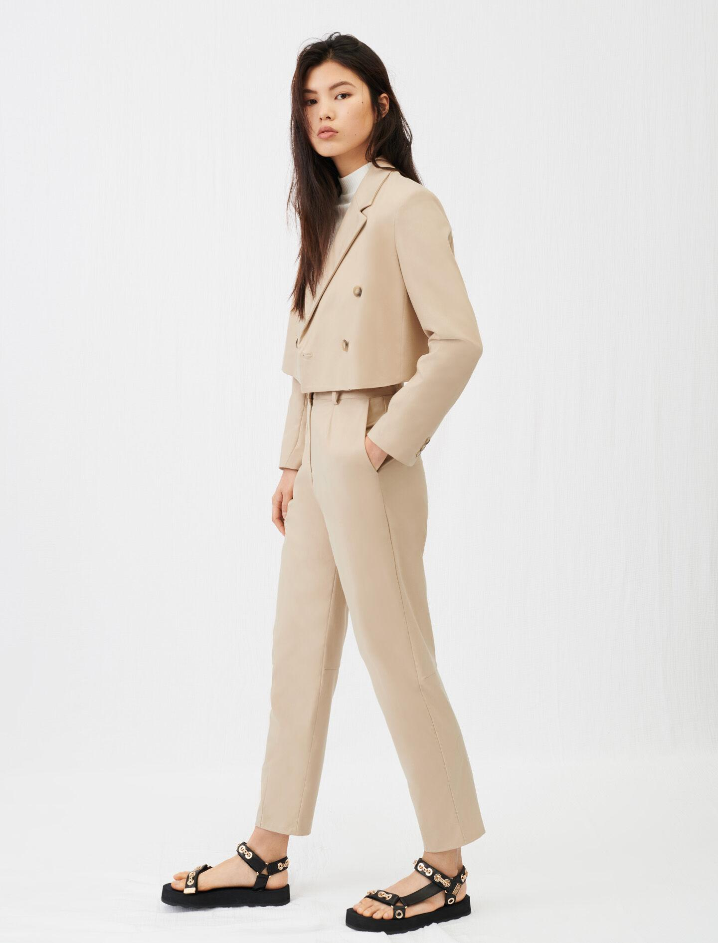 SHORT DOUBLE-BREASTED SUIT JACKET 1