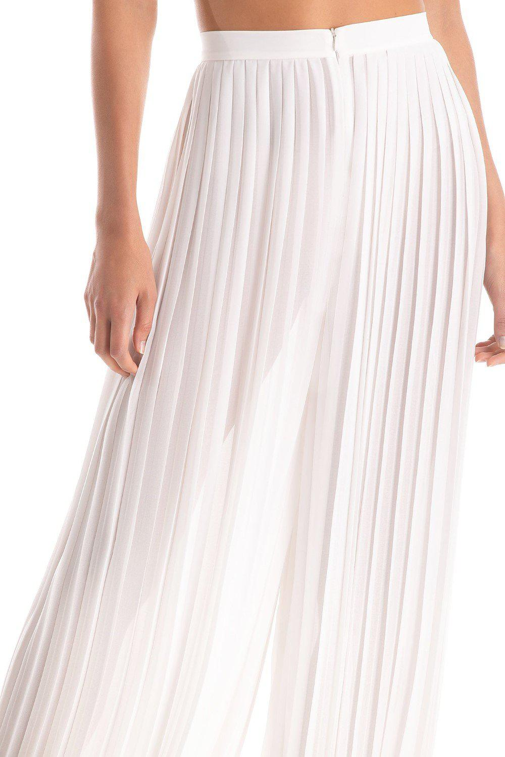 Solid Pleated Pants 3