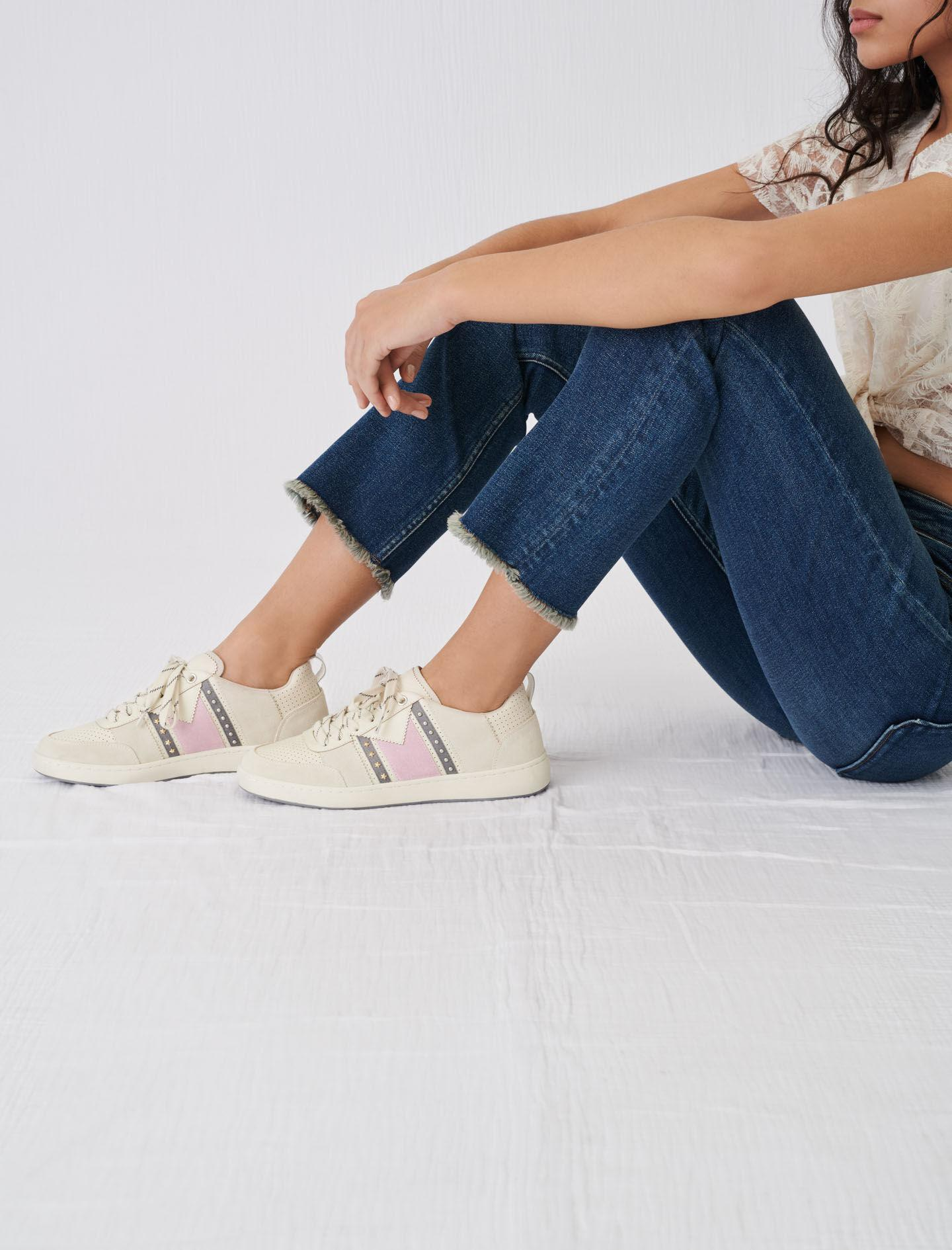 TWO-TONE LEATHER SNEAKERS 5