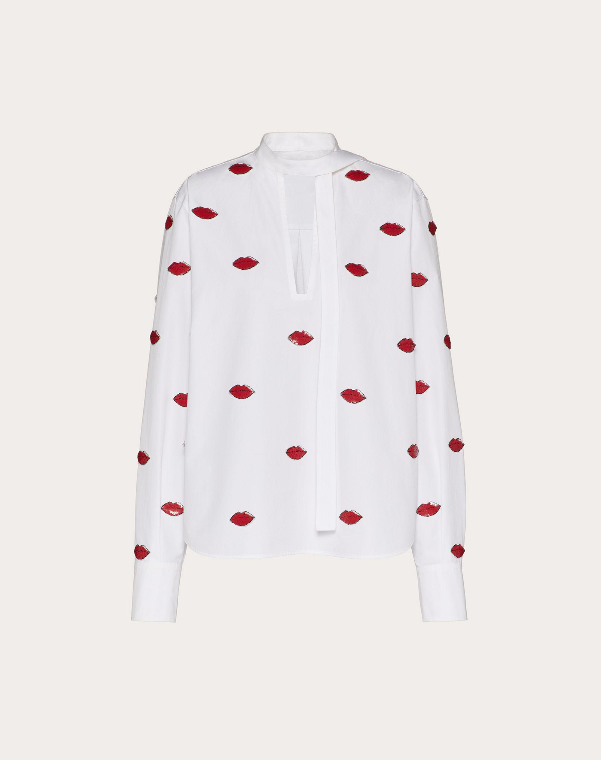 EMBROIDERED COMPACT POPLIN TOP 3