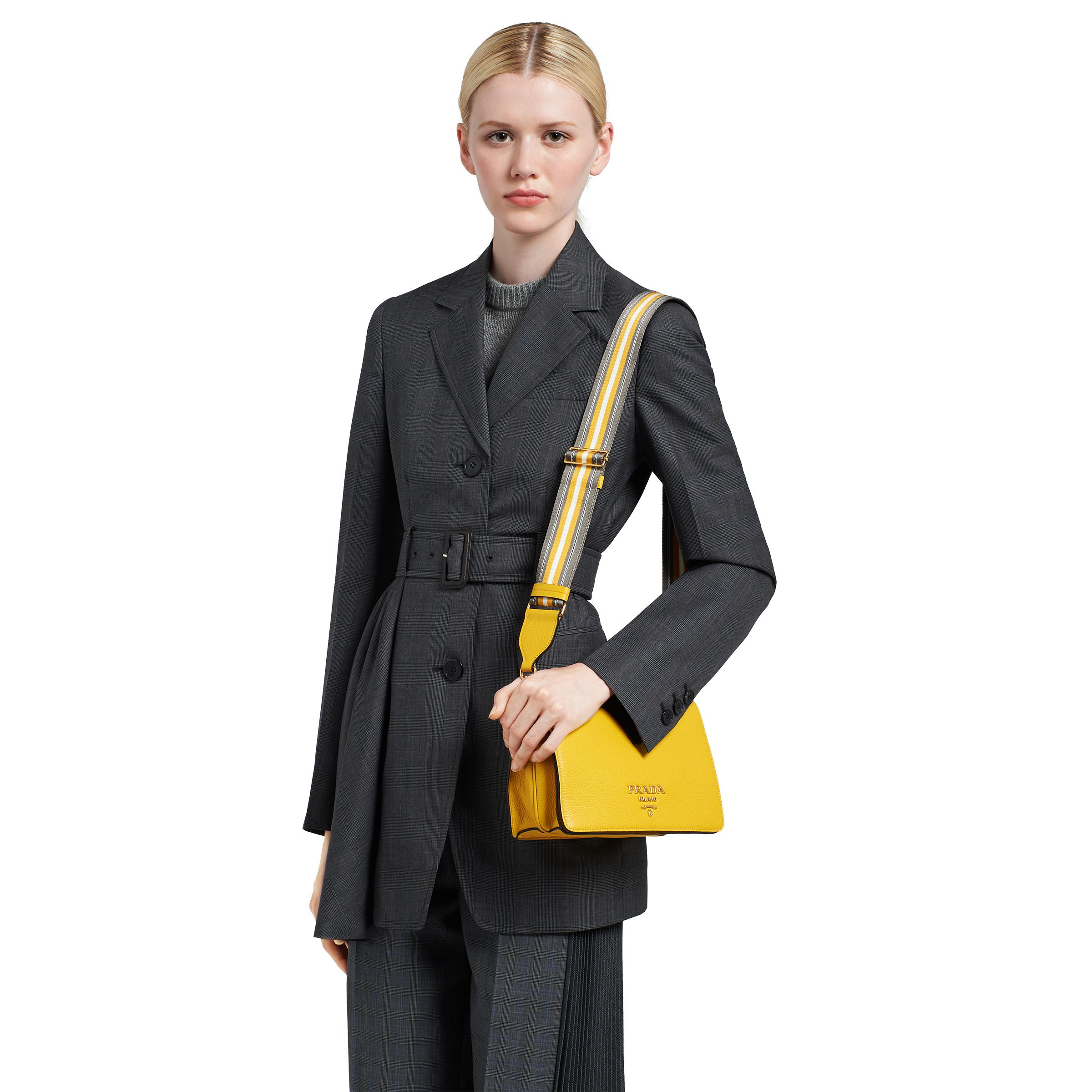 Leather Shoulder Bag Women Sunny Yellow 1