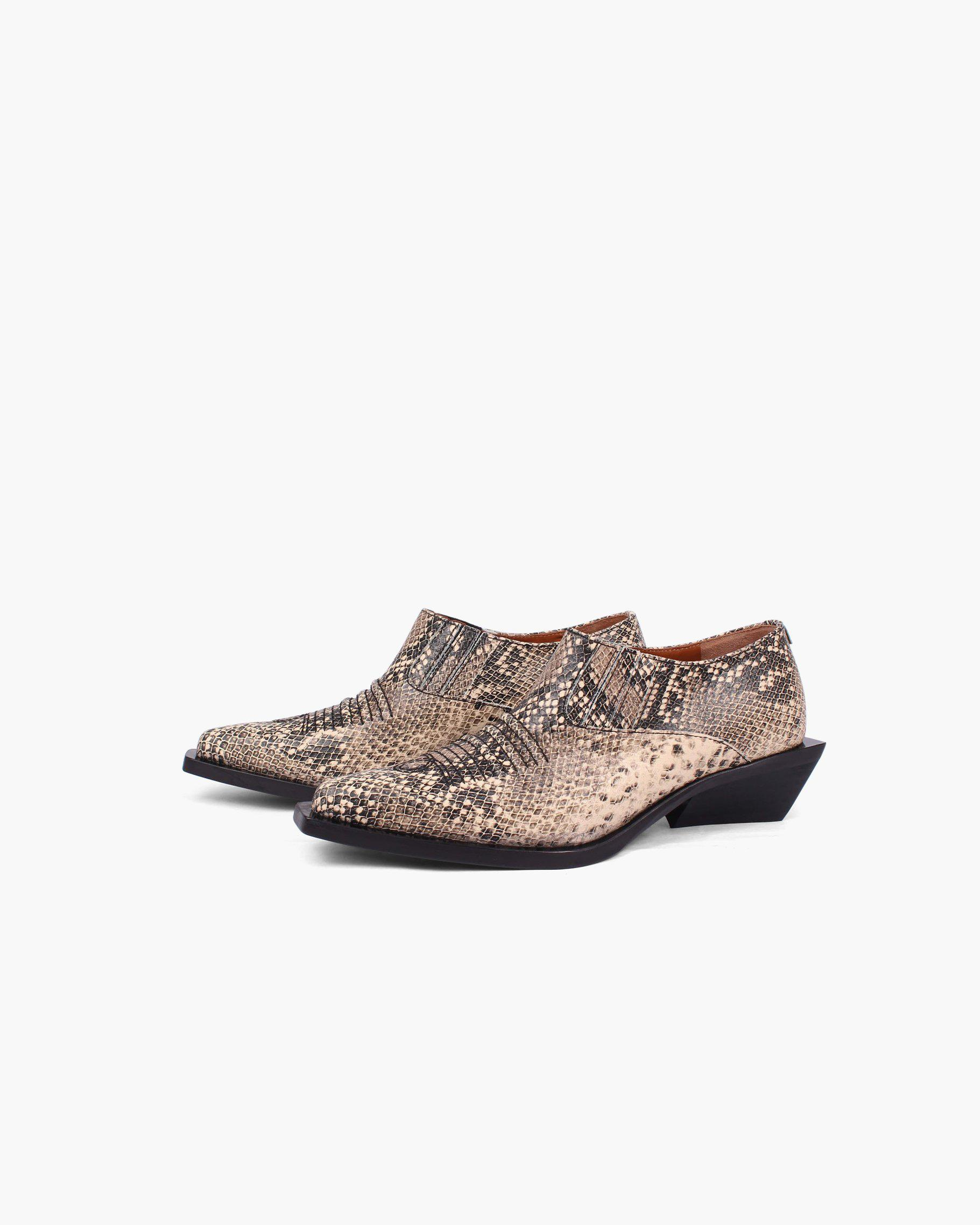 Dolores Brogues Leather Substitute Snake - SPECIAL PRICE 1