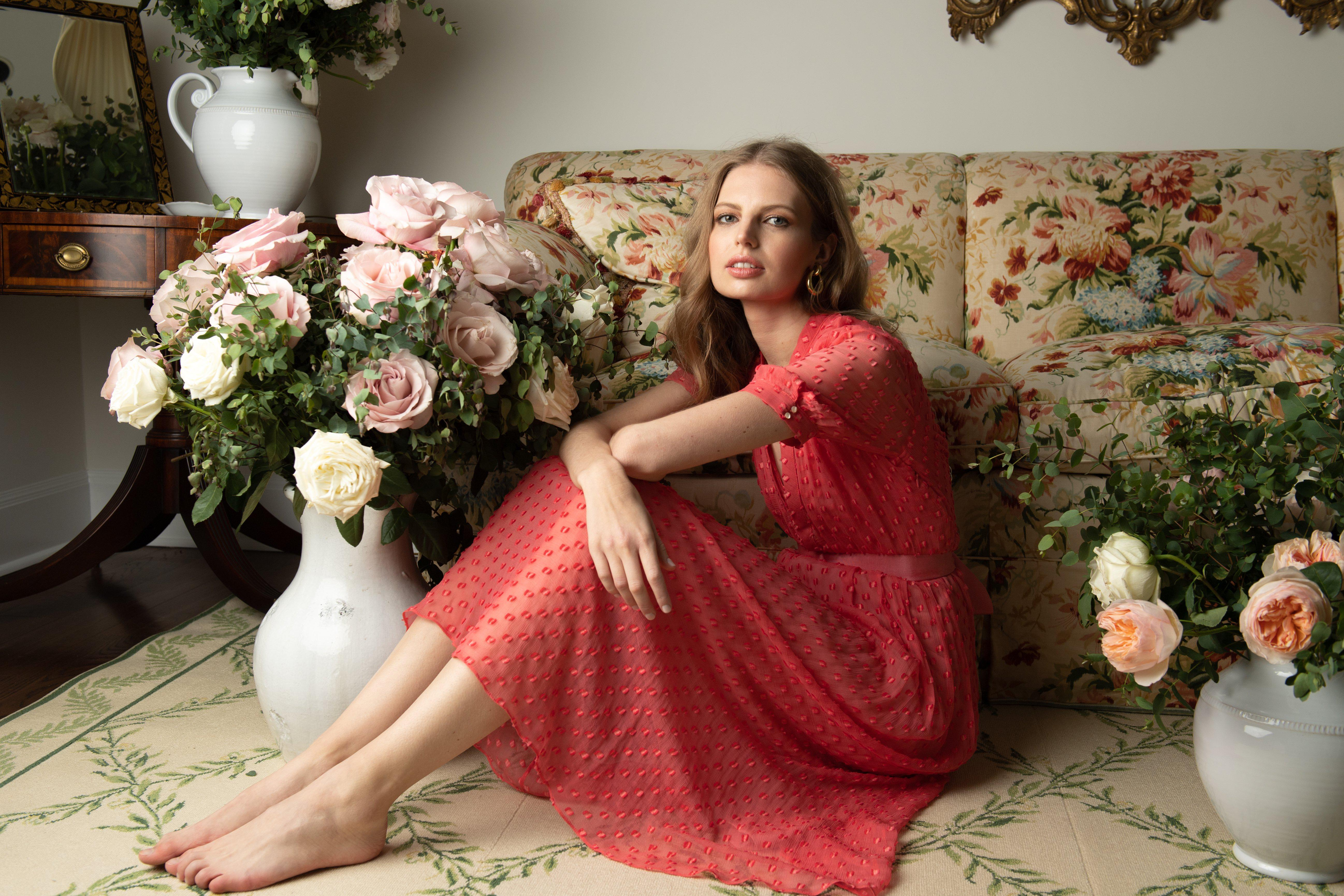 The Ivy Dress   Coral 1