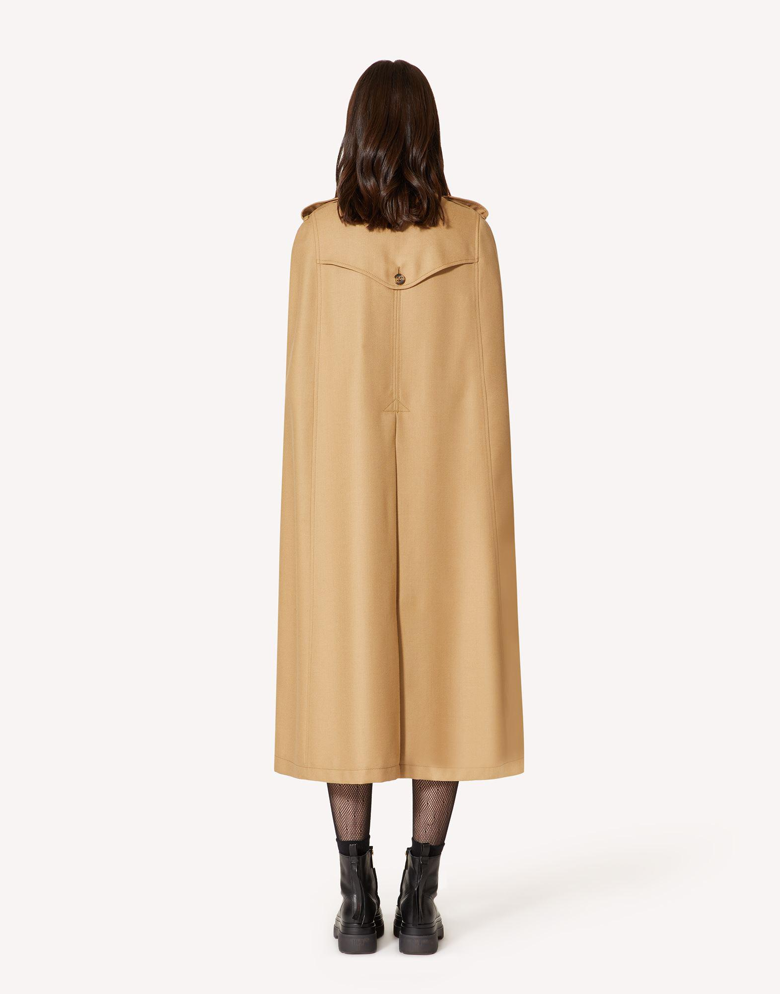 COMPACT WOOL TRENCH-LIKE CAPE 2