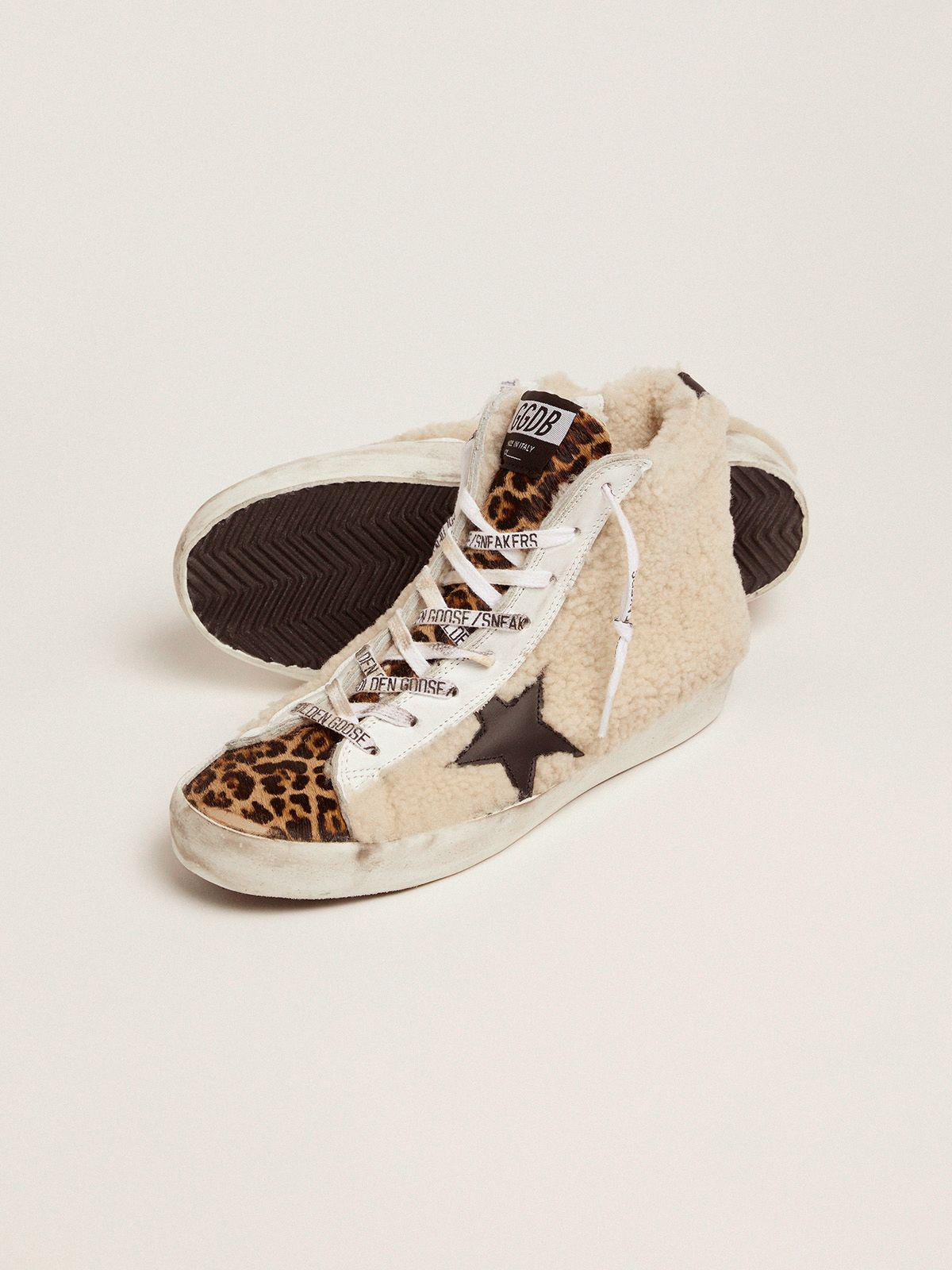 Francy sneakers made of shearling and pony skin with a leopard print 2