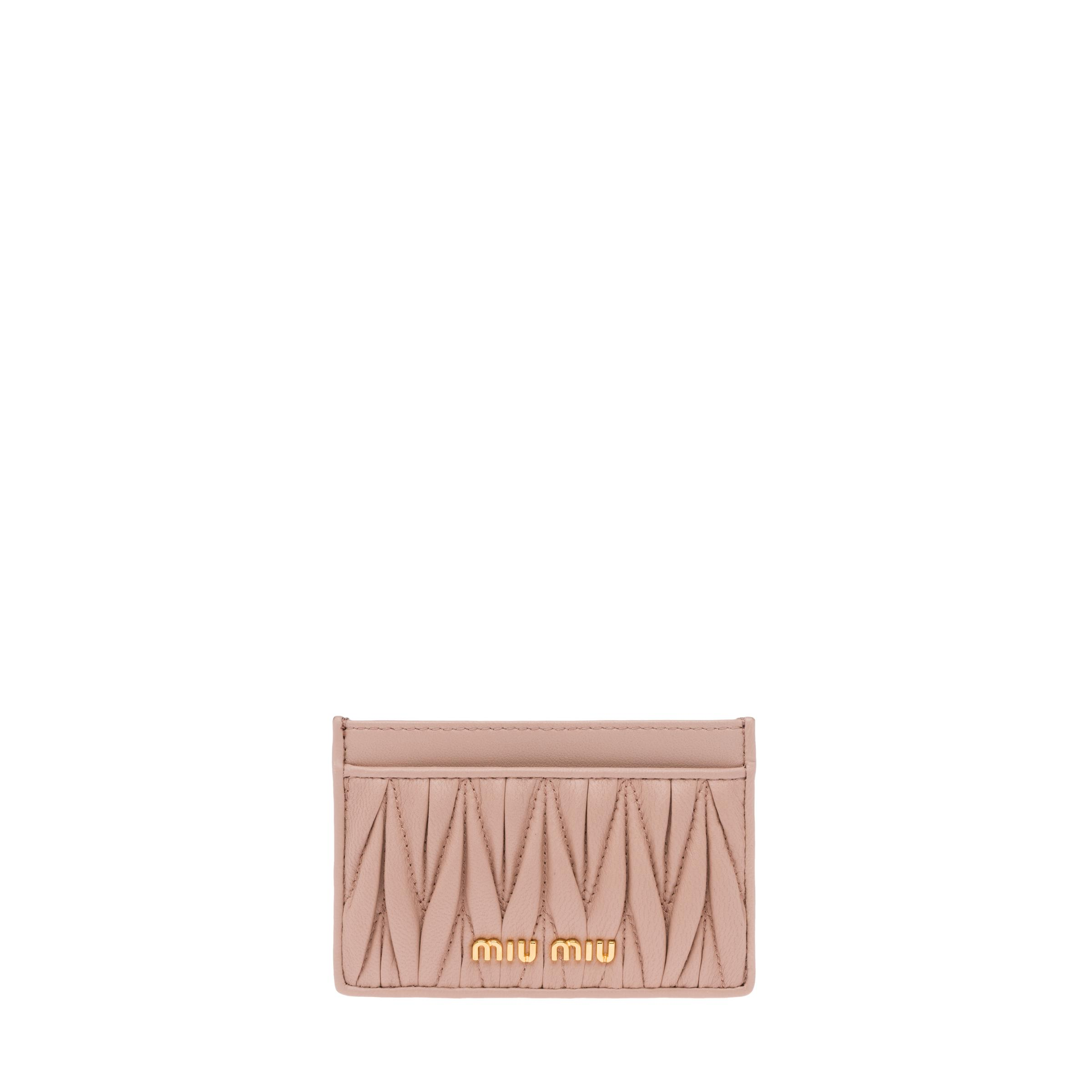 Leather Credit Card Holder Women Cameo Beige