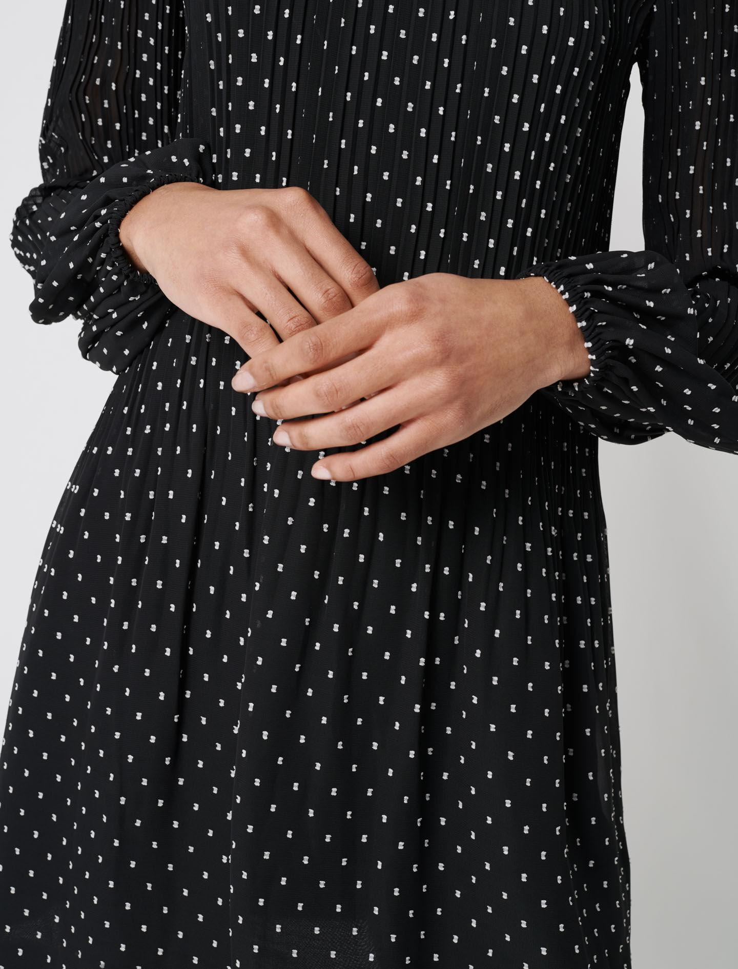 PLEATED AND EMBROIDERED DRESS 4