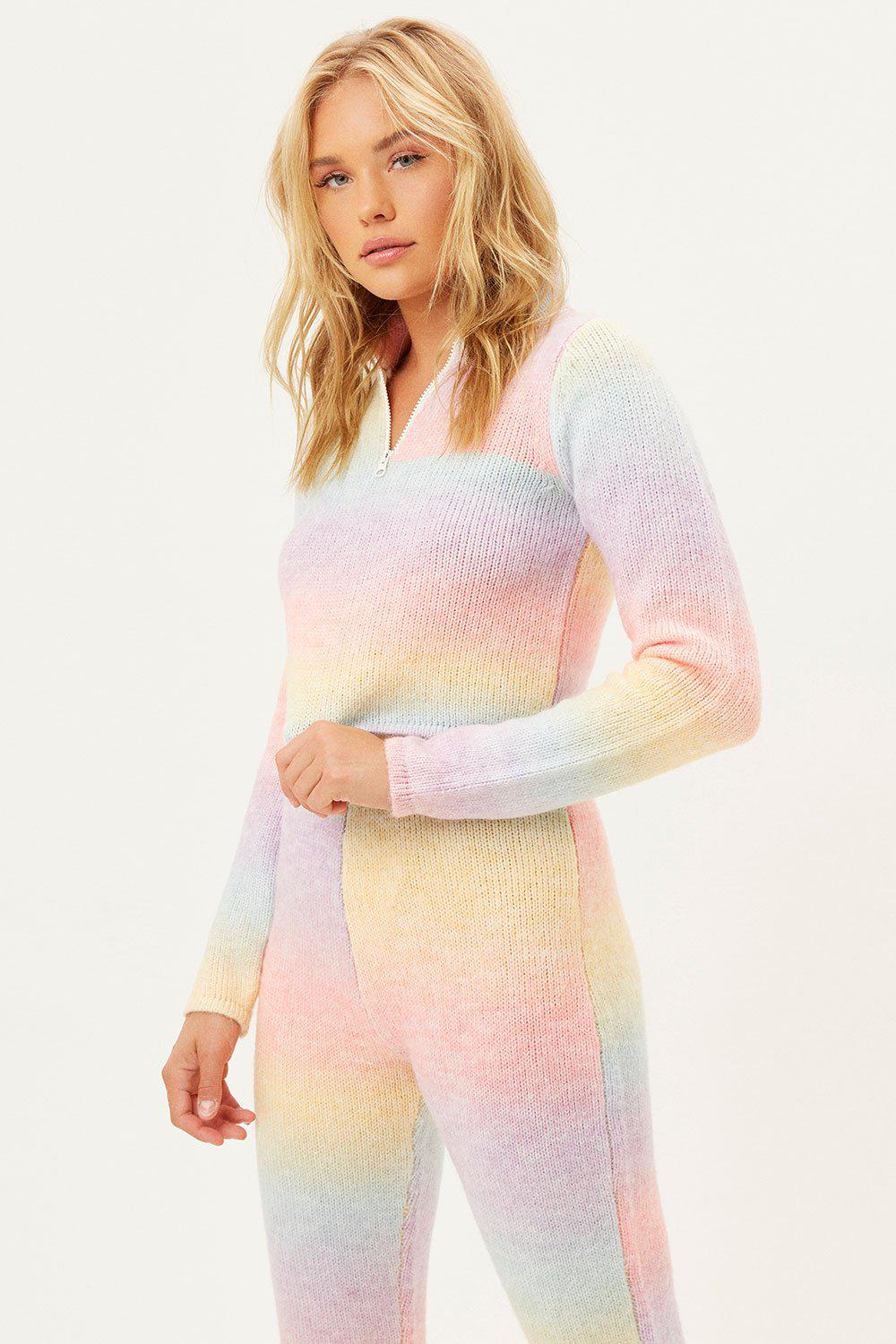 Bowie Cropped Knit Sweater - Cotton Candy 3