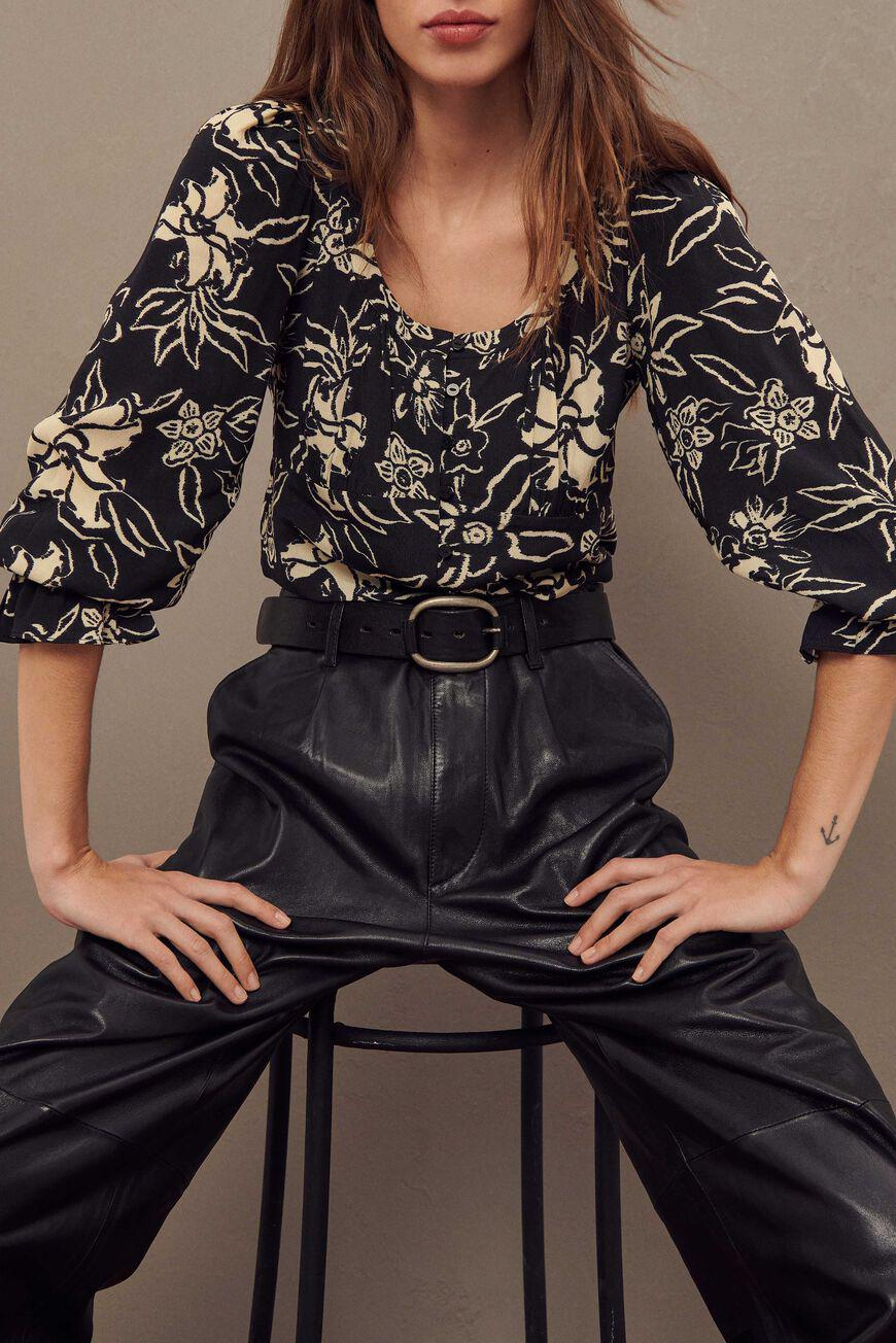 sessee.FLORAL BLOUSE