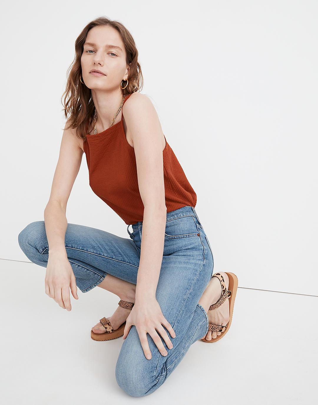 The Tall Perfect Vintage Crop Jean in Clymer Wash 1