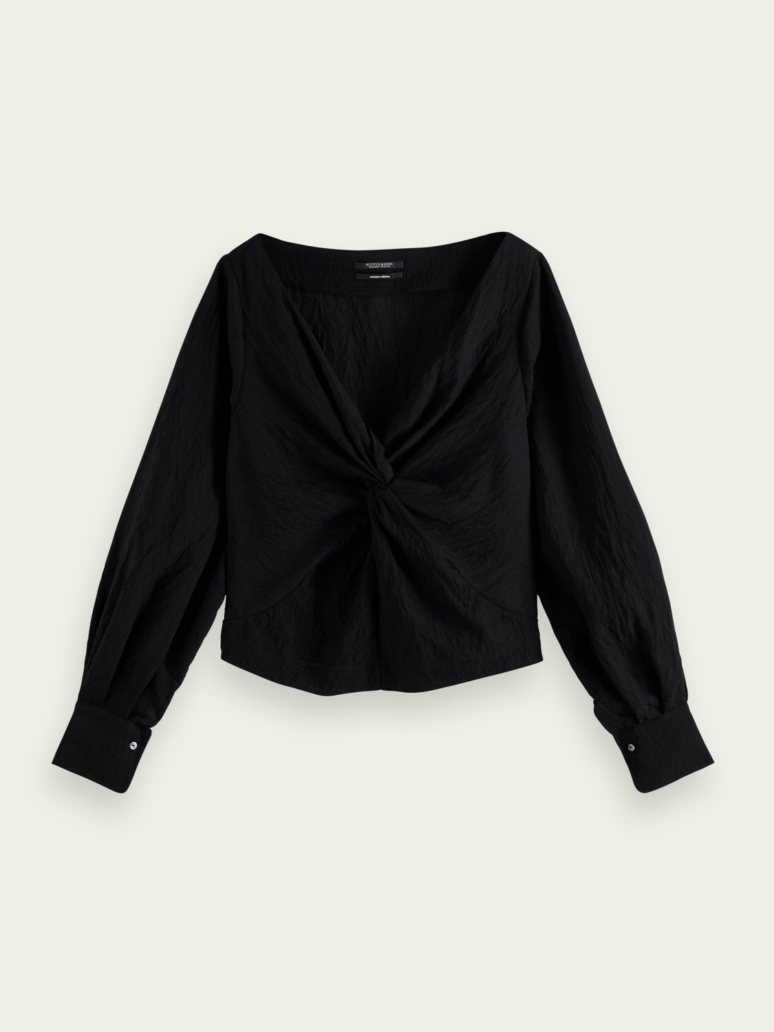 V-neck knotted top 3