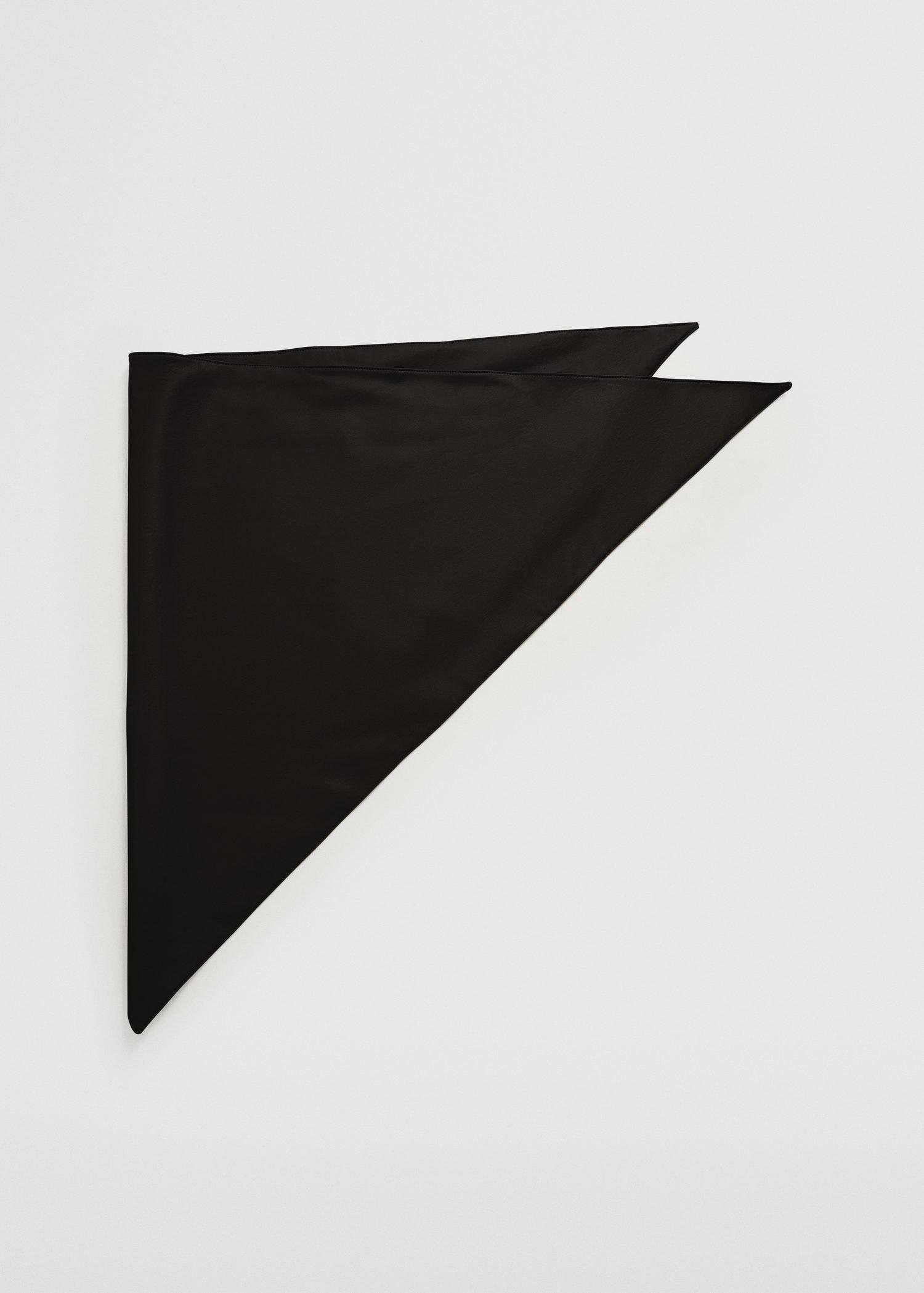 Faux leather scarf