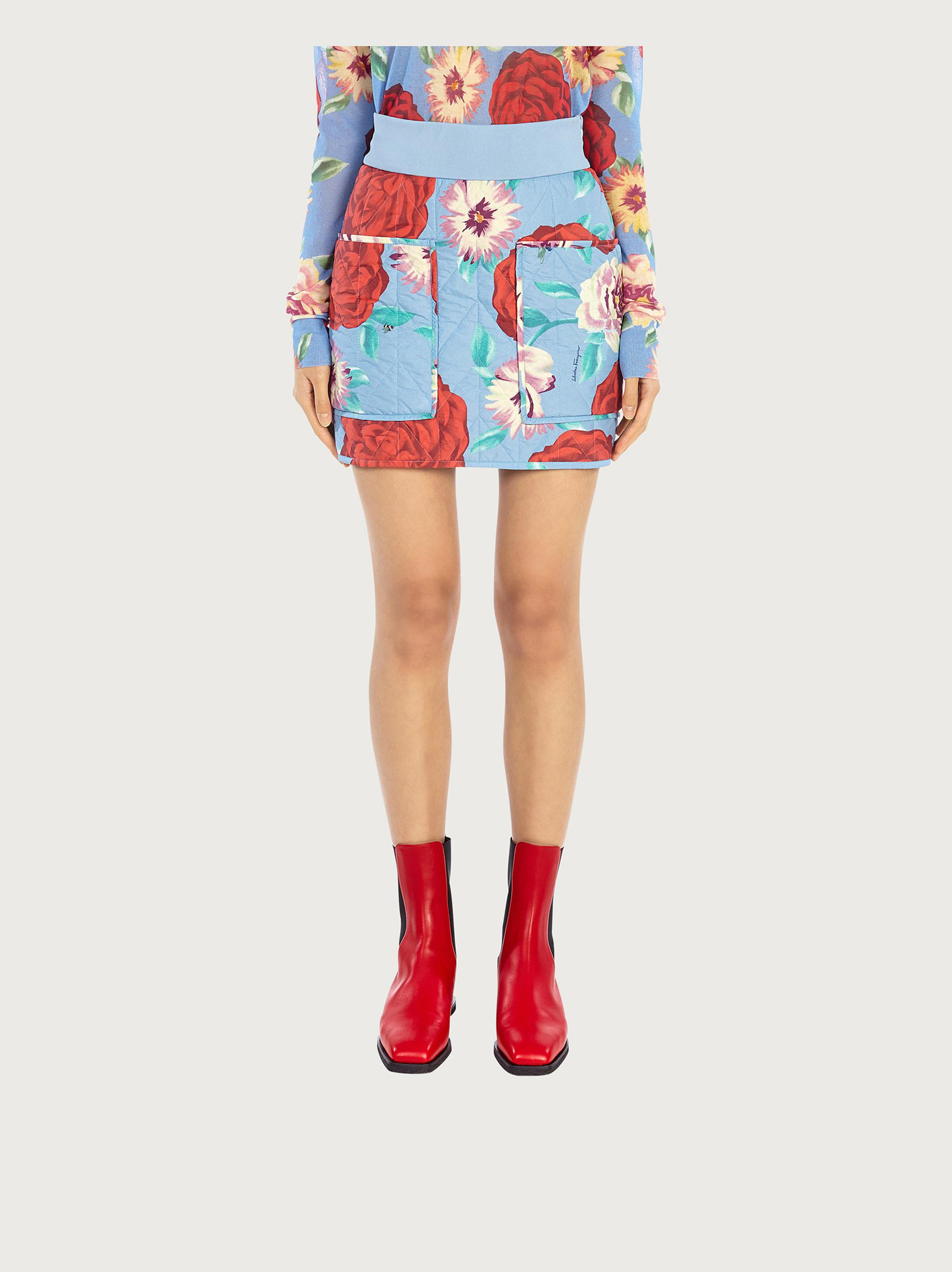 QUILTED SHORT SKIRT