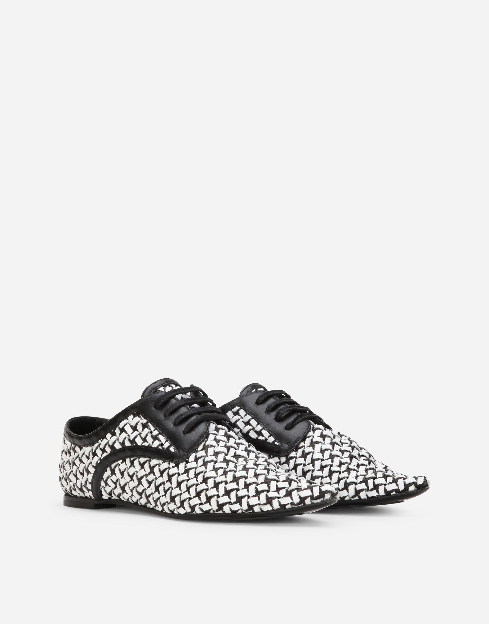 Two-tone woven calfskin Derby shoes 1