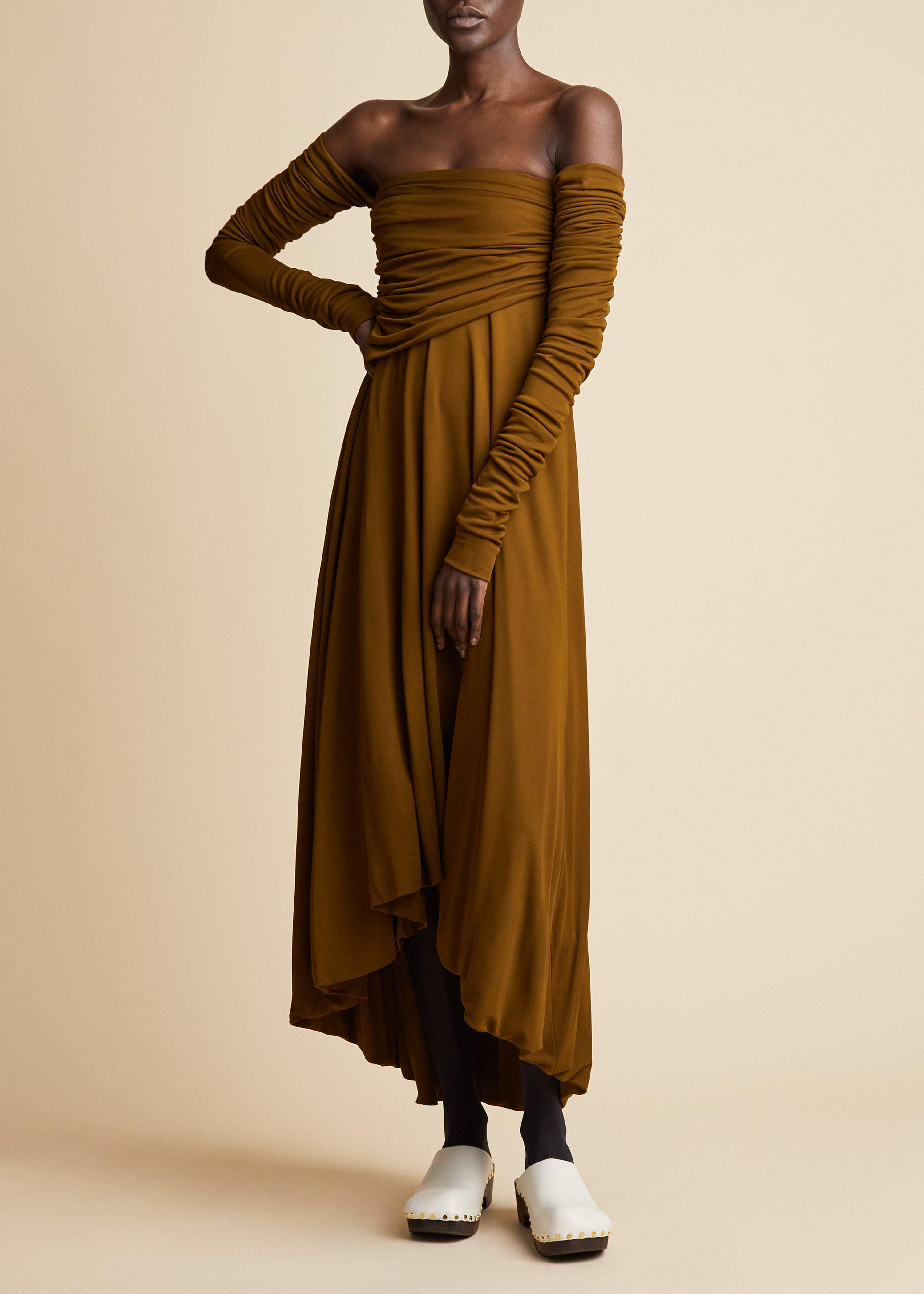 The Nerissa Dress in Olive