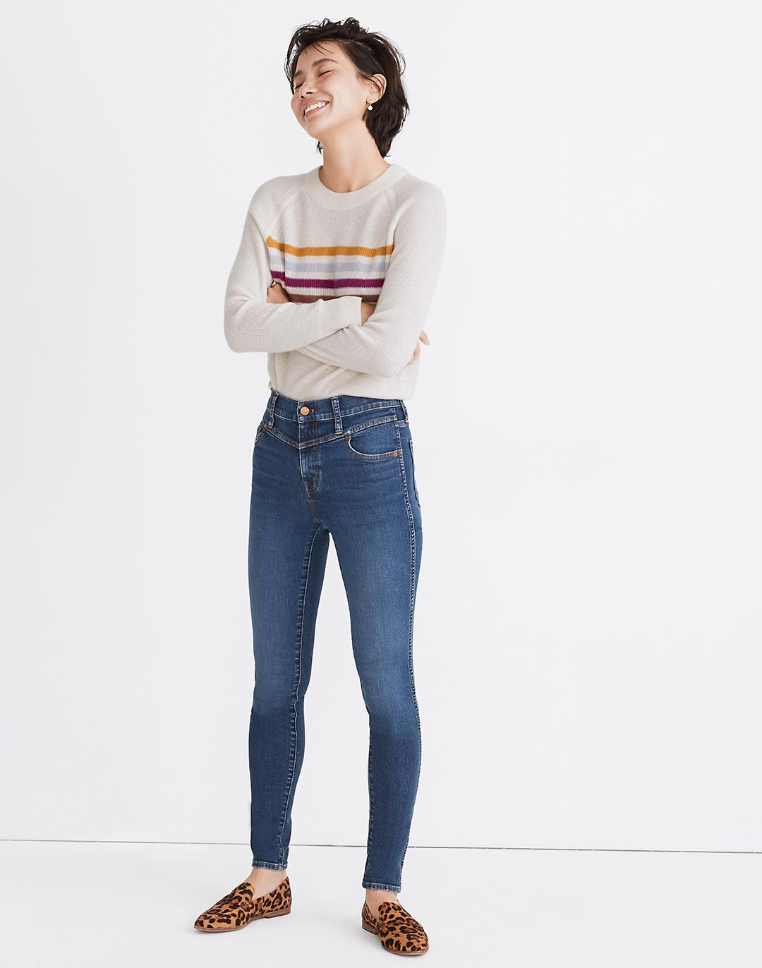 """10"""" High-Rise Skinny Jeans in Pine Wash: Yoke Edition"""