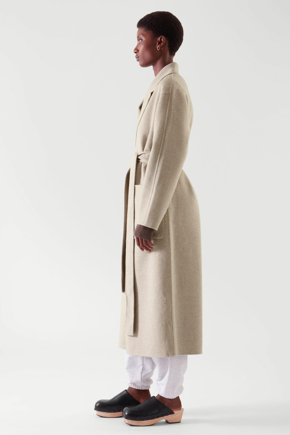 BELTED WRAP COAT 7