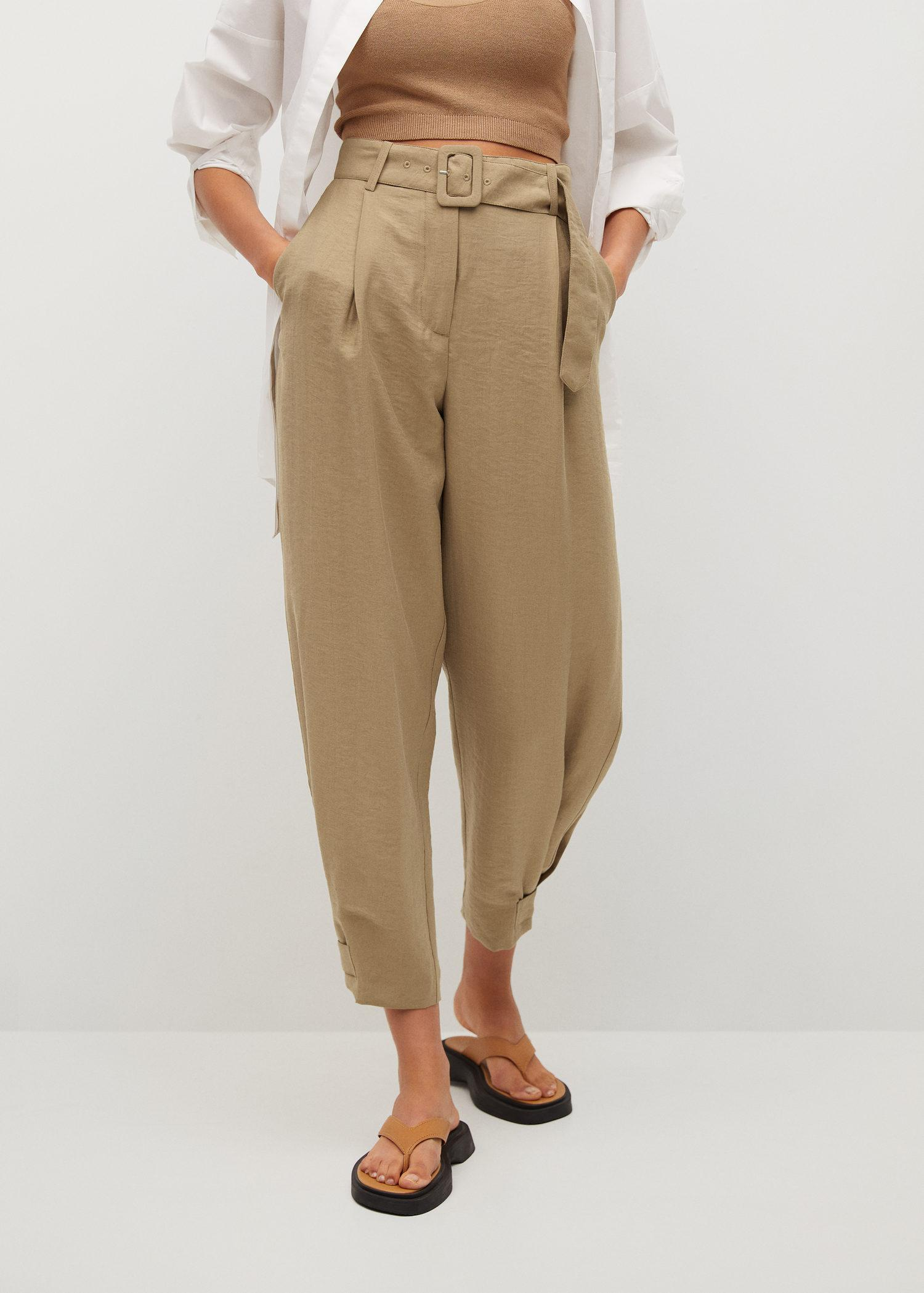 Darts lyocell trousers