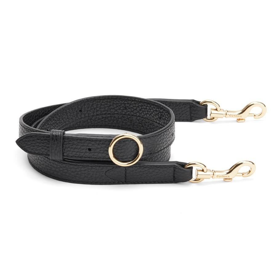Women's Adjustable Strap in Black | Pebbled Leather by Cuyana