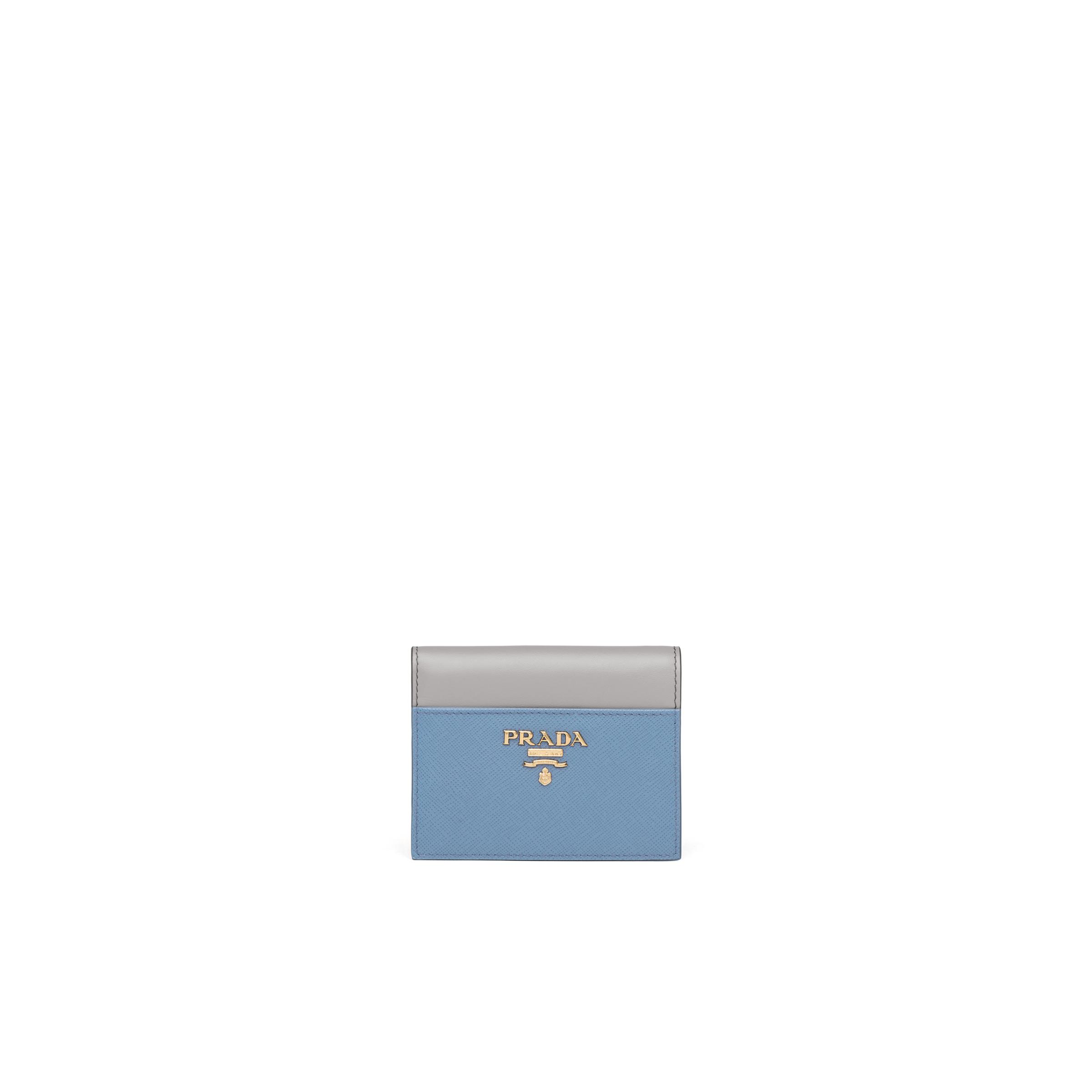 Small Leather Wallet Women Astral Blue/cloudy Gray