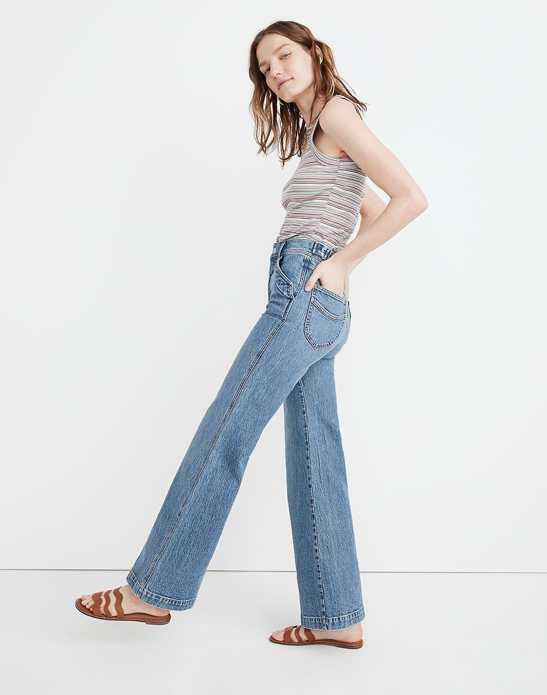 """11"""" High-Rise Flare Jeans in Erickson Wash: Stitched-Pocket Edition 1"""