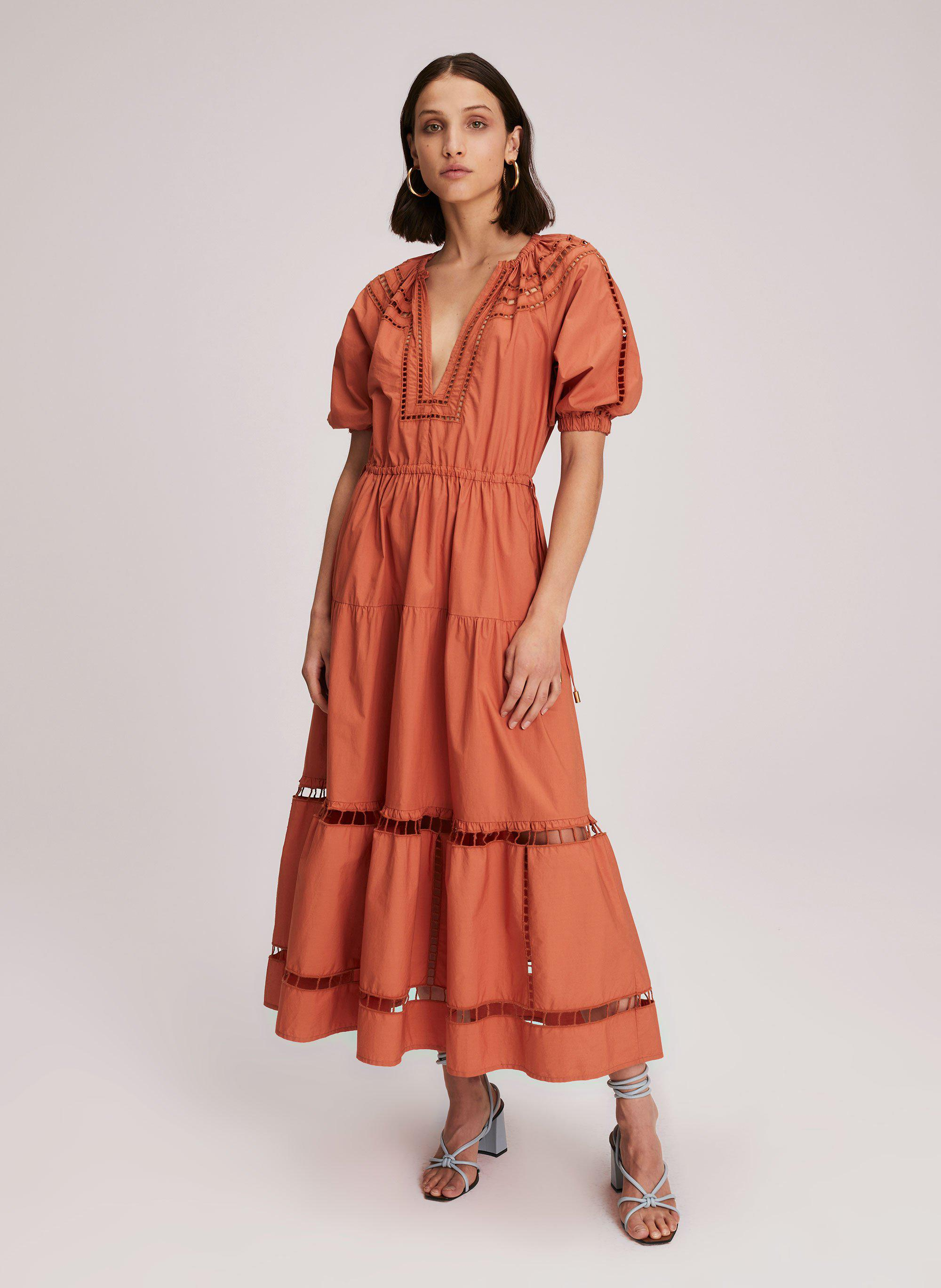 Maryn Embroidered Cotton Dress 1