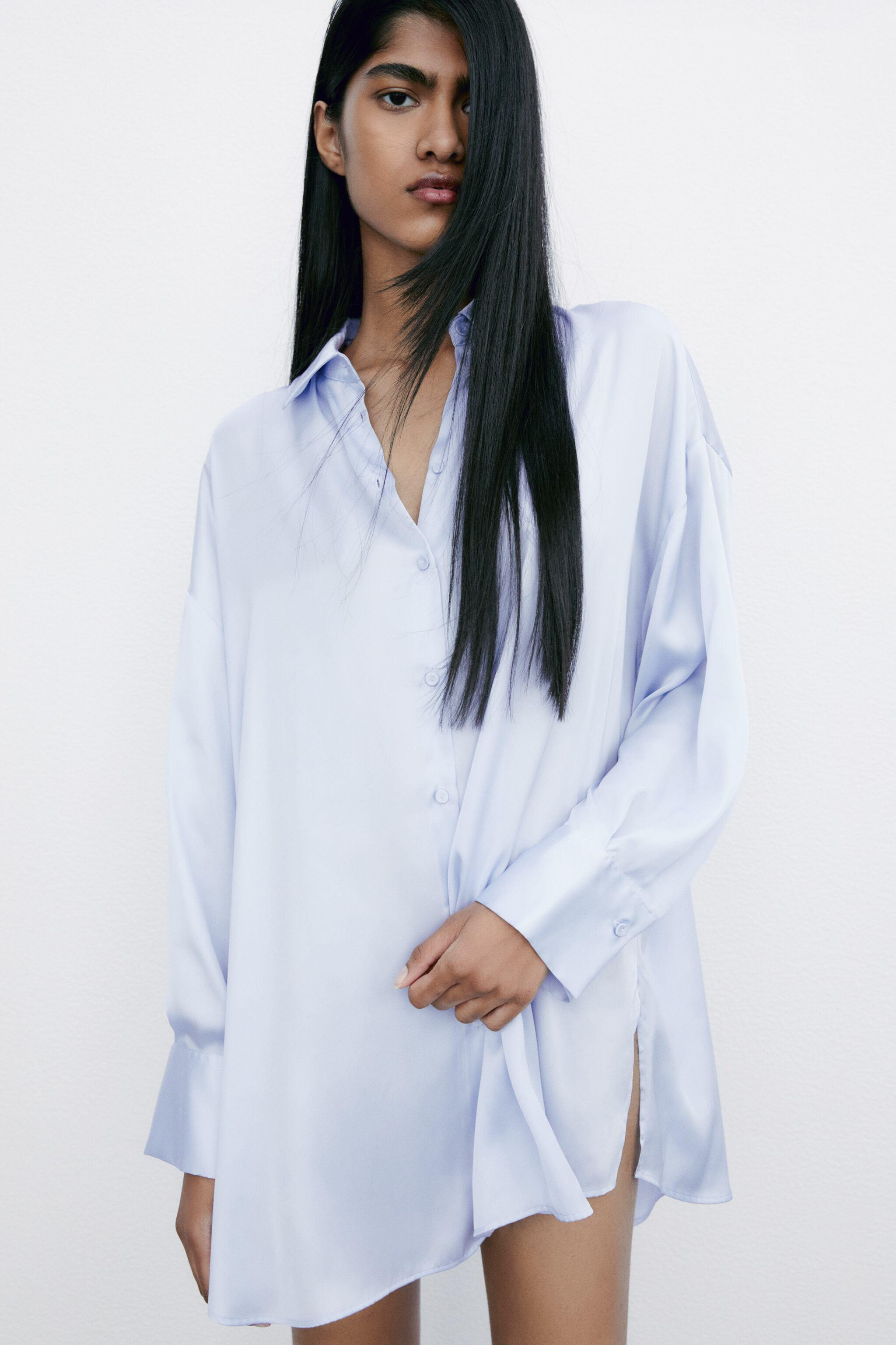 FLOWY LINED BUTTON SHIRT 1