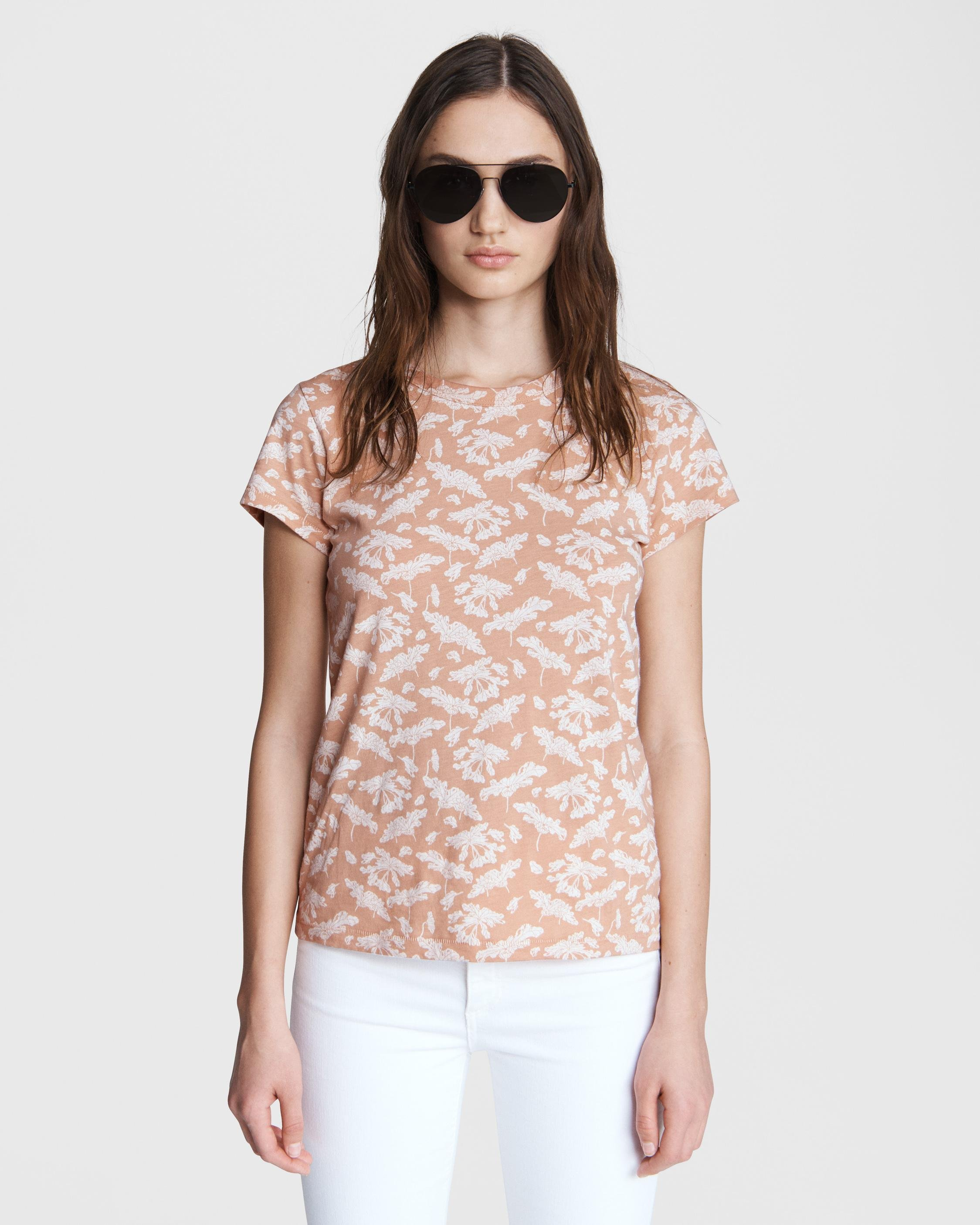 All over summer floral jersey tee