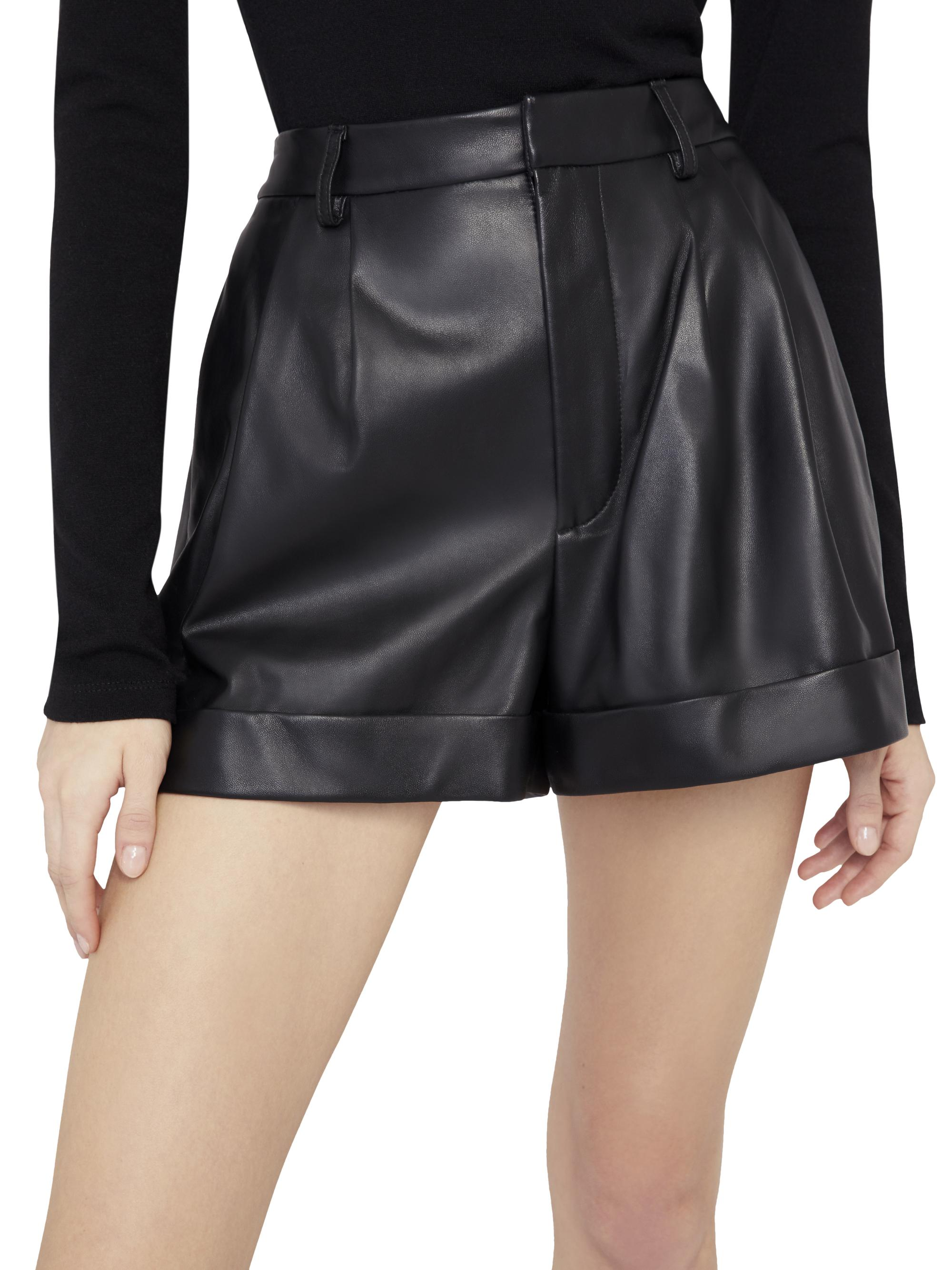 CONRY LEATHER PLEATED SHORTS