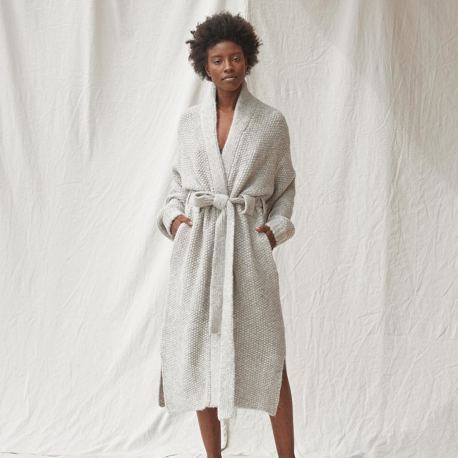 Chunky Wool Belted Robe